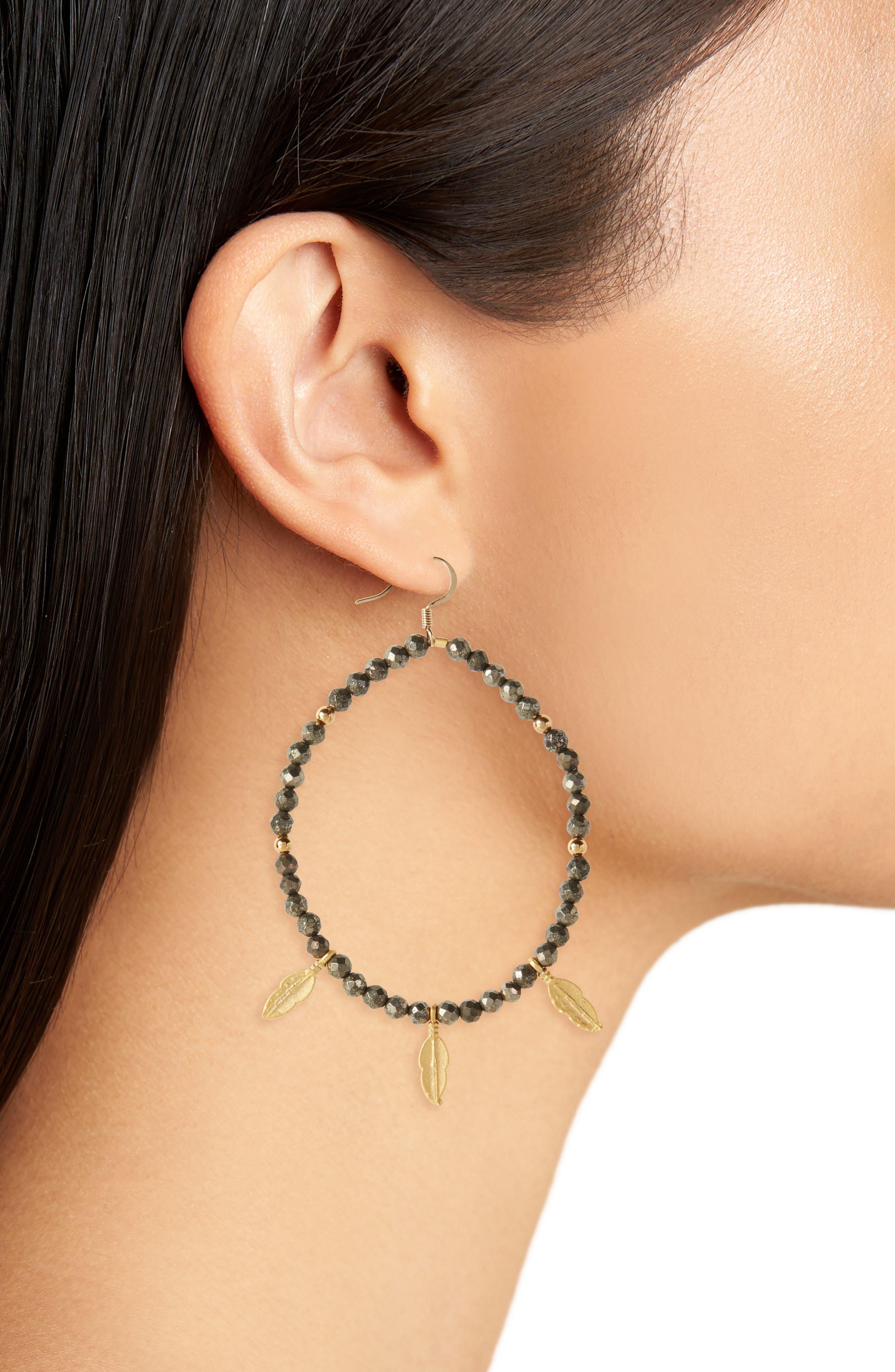 Love's Affect Blayne Semiprecious Leaf Drop Earrings,                             Alternate thumbnail 2, color,                             020