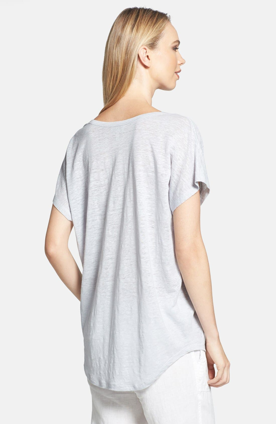 'Maddie' Linen Tee,                             Alternate thumbnail 2, color,                             053