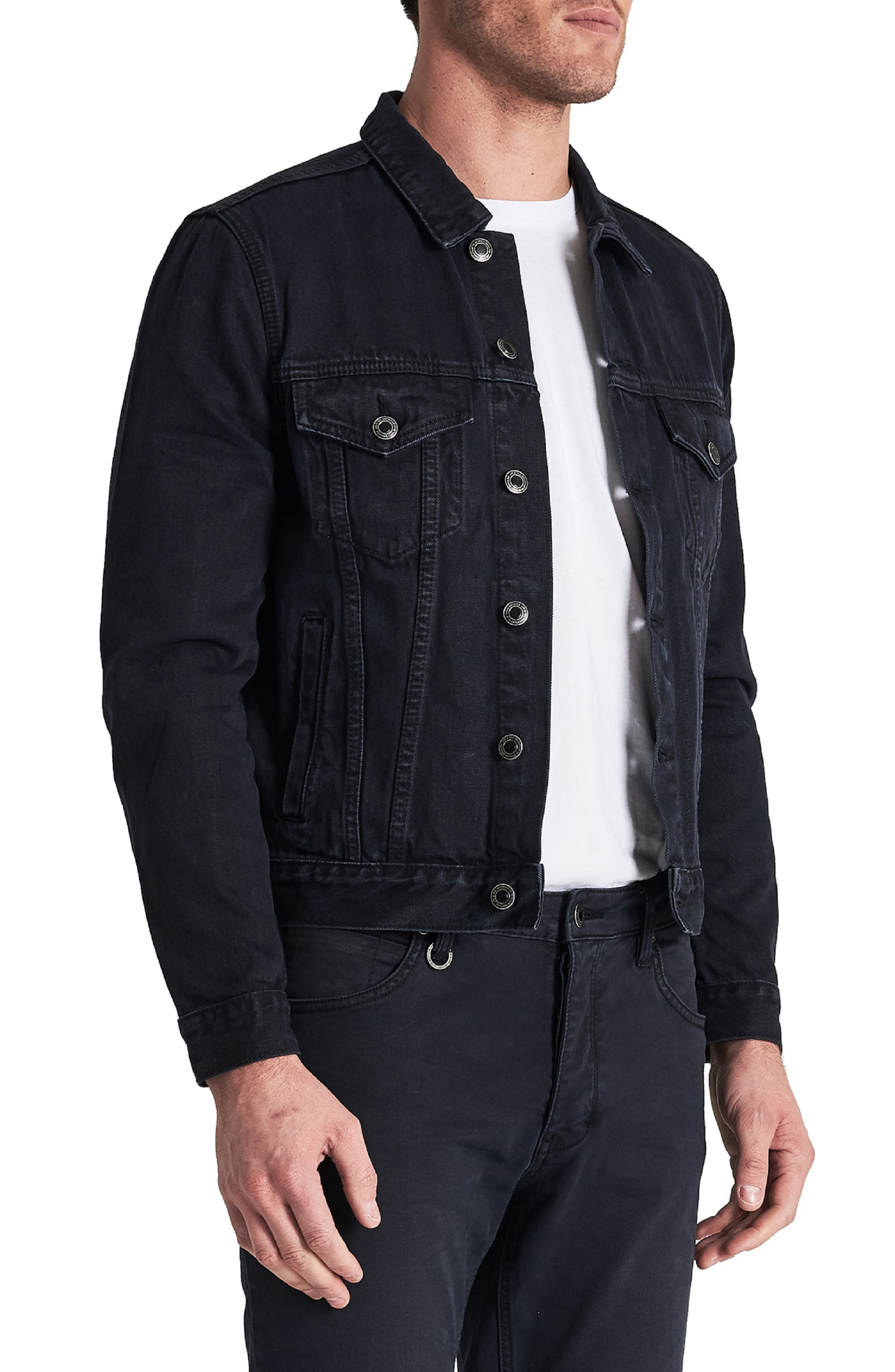 Type One Denim Jacket,                             Alternate thumbnail 3, color,                             DARK SKY