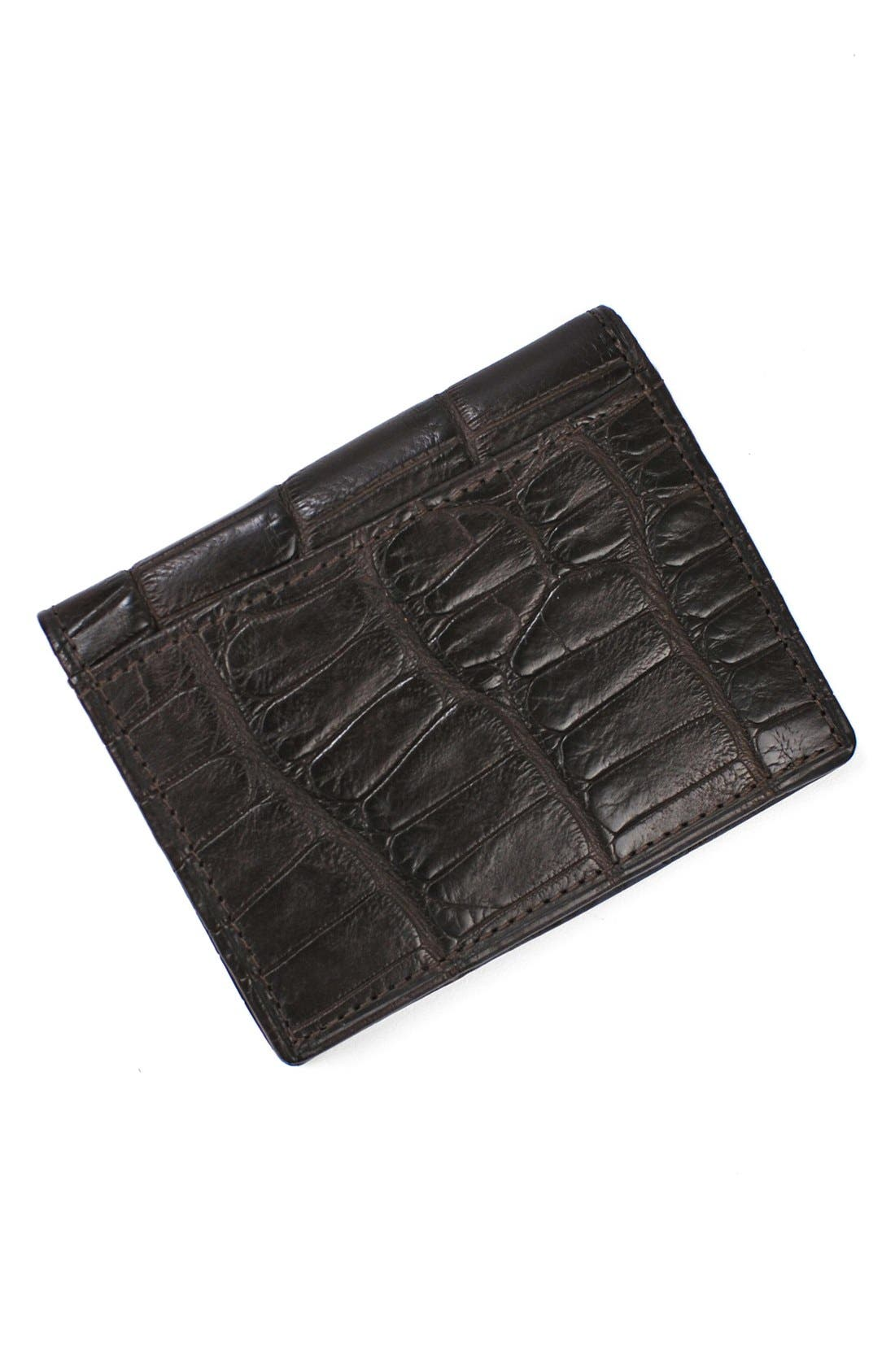 Jameson Matte Finish Genuine Alligator Leather Wallet,                             Main thumbnail 1, color,                             203