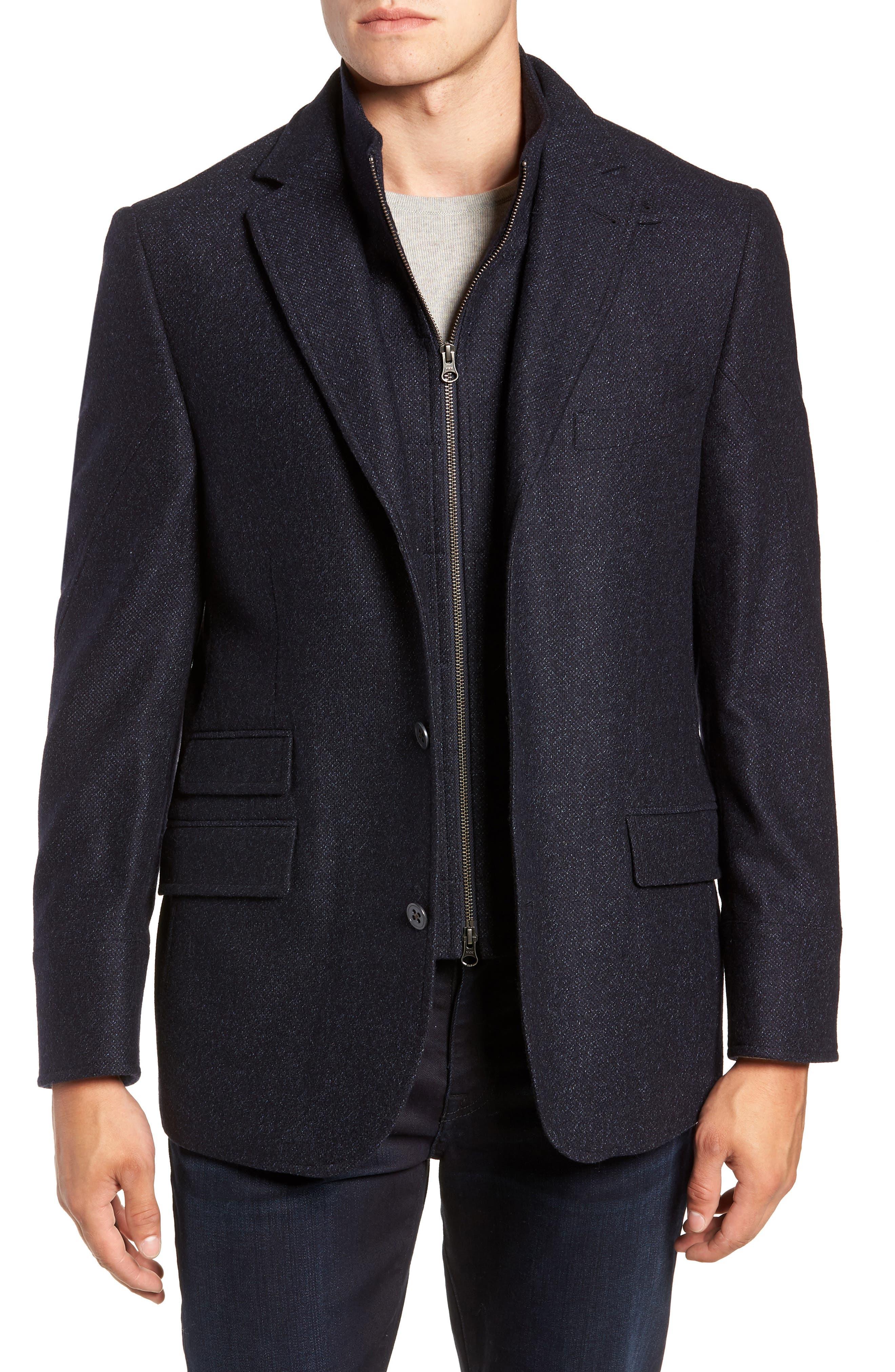 Hybrid Wool & Cashmere Sport Coat,                         Main,                         color, BLUE