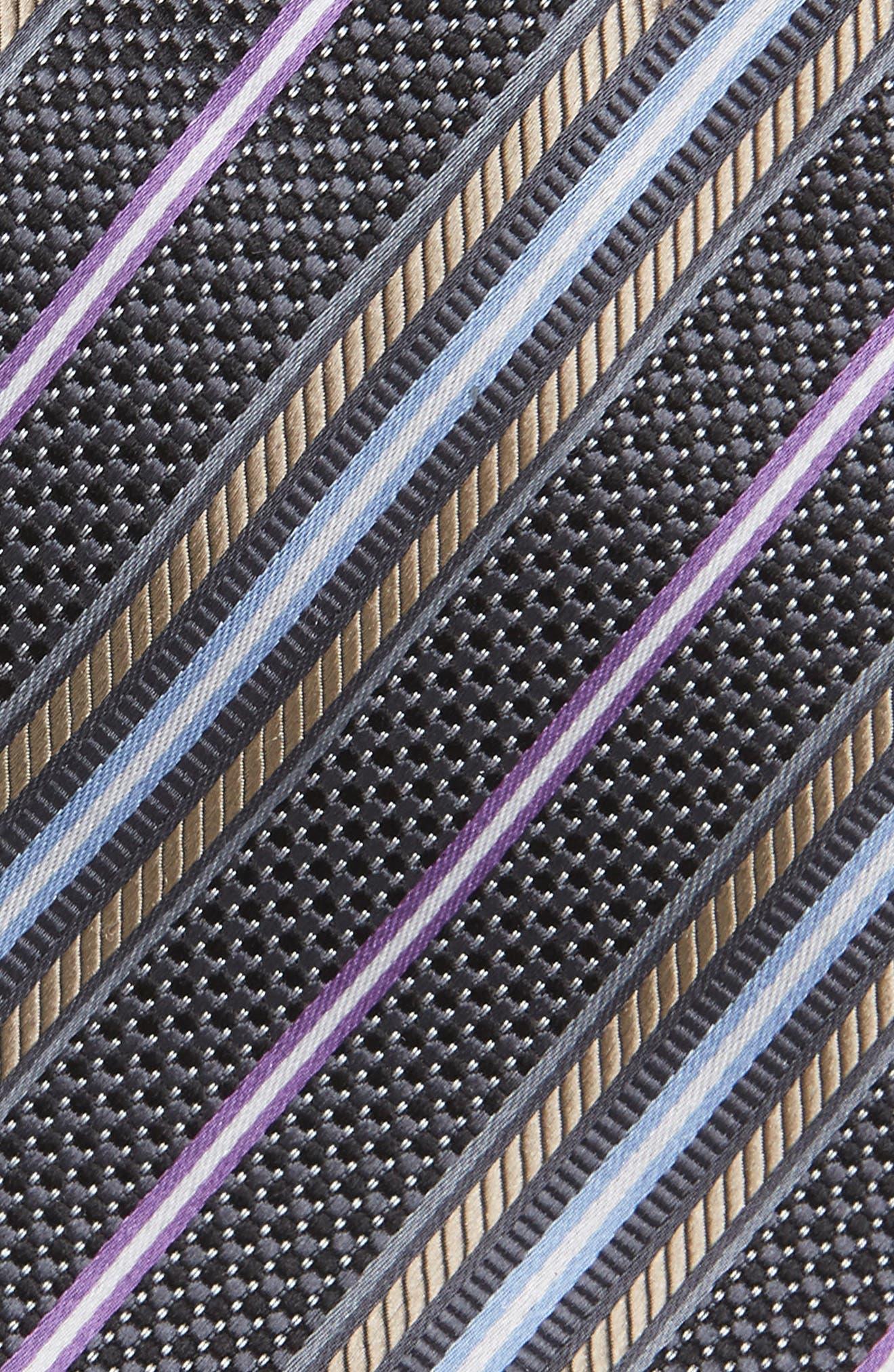 Stripe Silk Tie,                             Alternate thumbnail 2, color,                             001