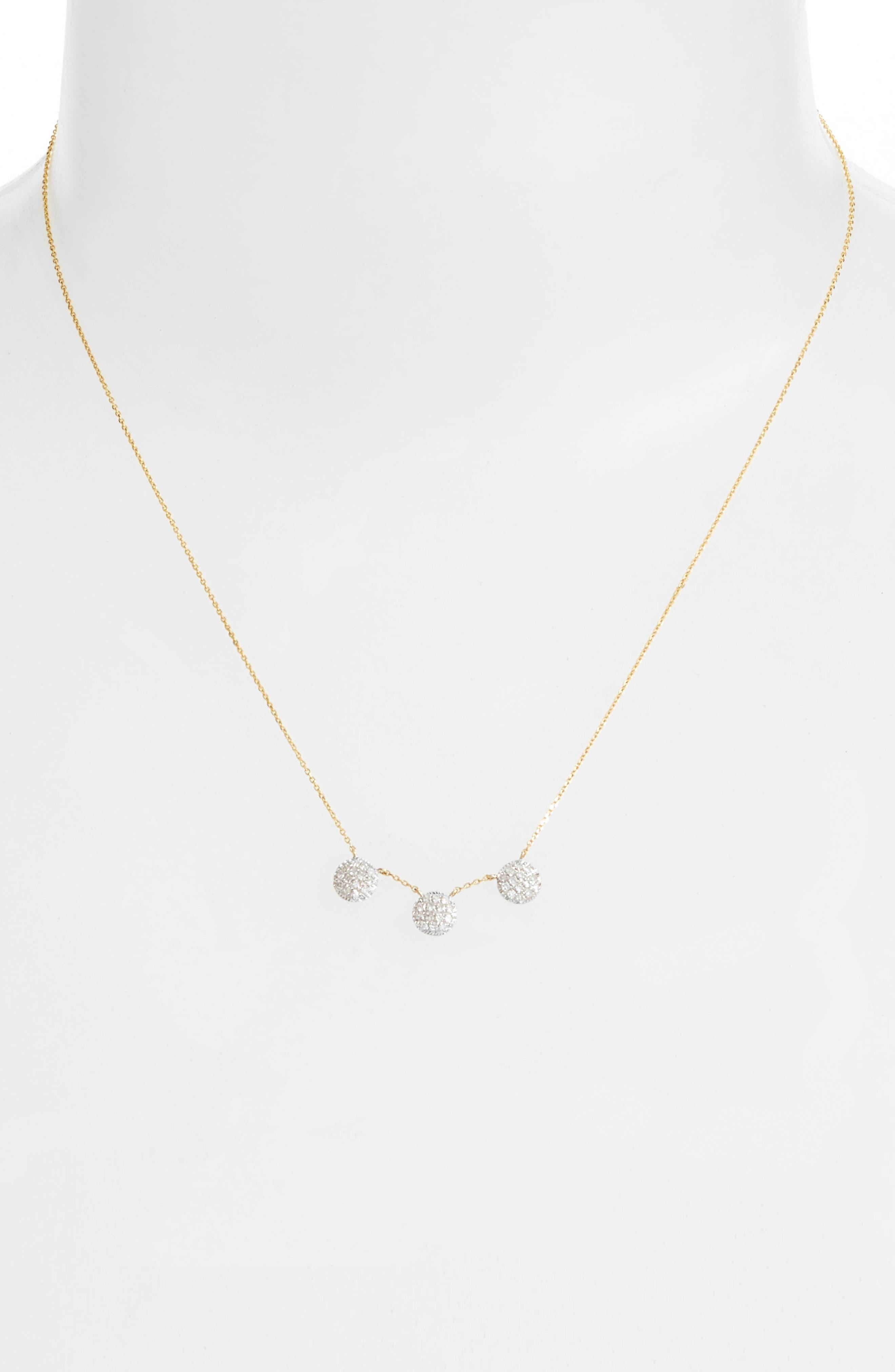 Lauren Joy Three-Disc Diamond Necklace,                             Alternate thumbnail 2, color,                             710
