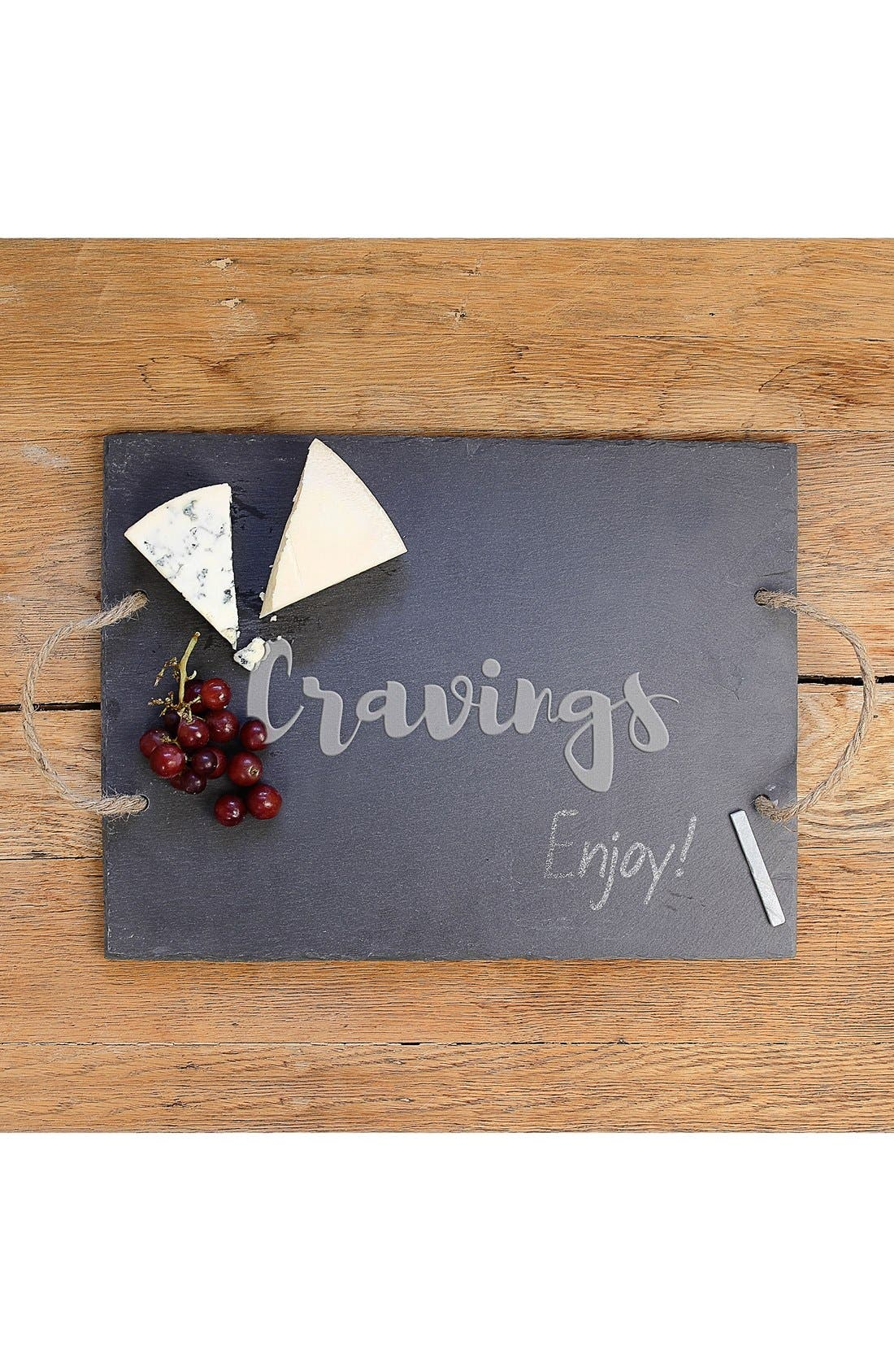 'Cravings' Slate Serving Board,                             Alternate thumbnail 3, color,                             001