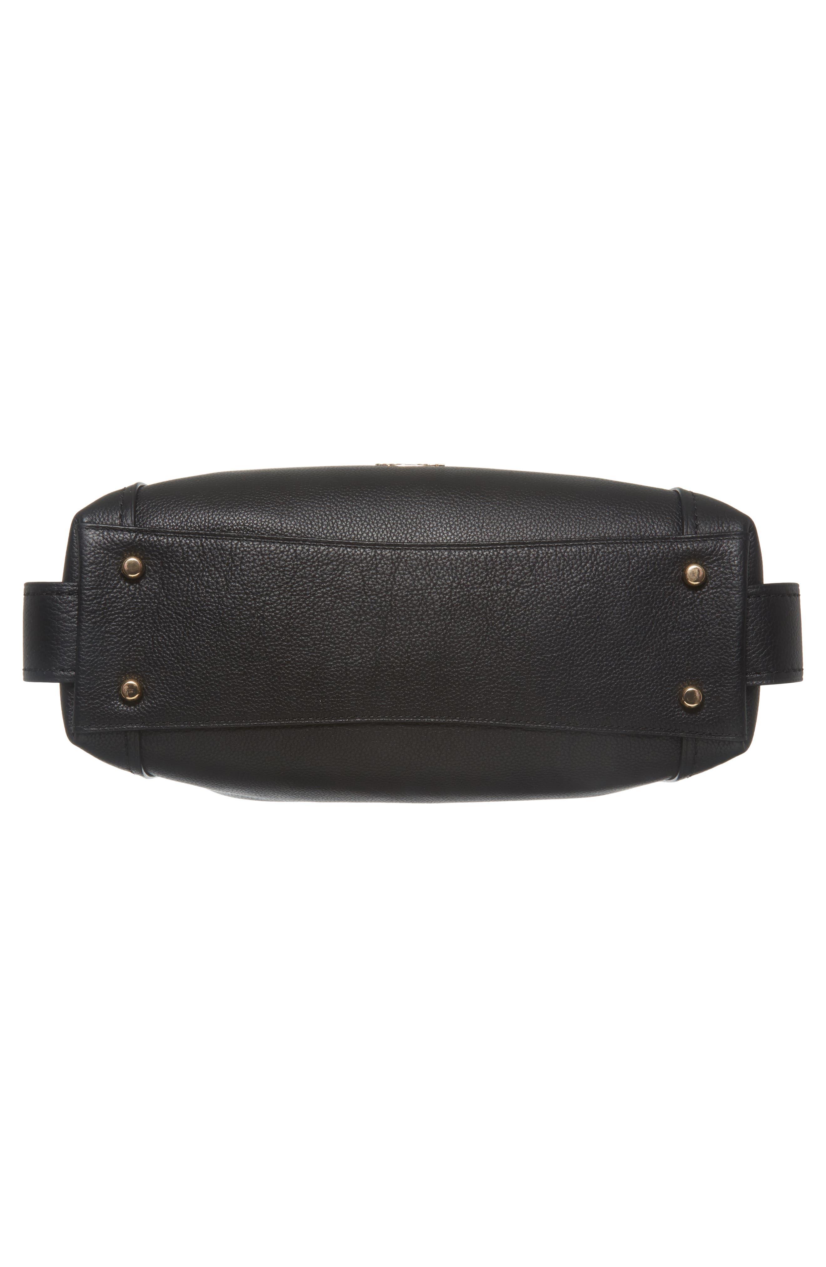 Edie 31 Pebbled Leather Shoulder Bag,                             Alternate thumbnail 6, color,                             BLACK