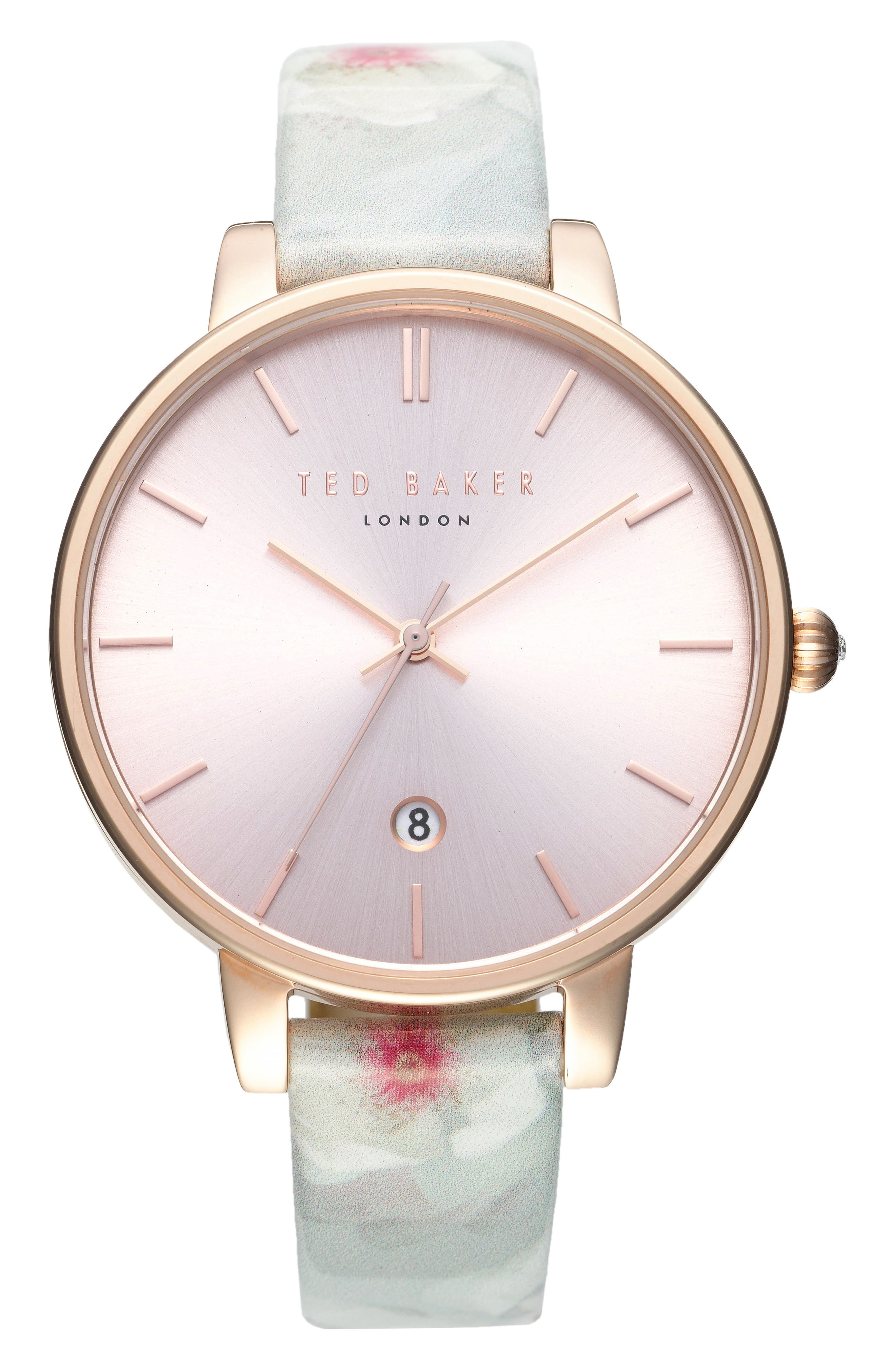 Kate Print Leather Strap Watch, 38mm,                             Main thumbnail 4, color,