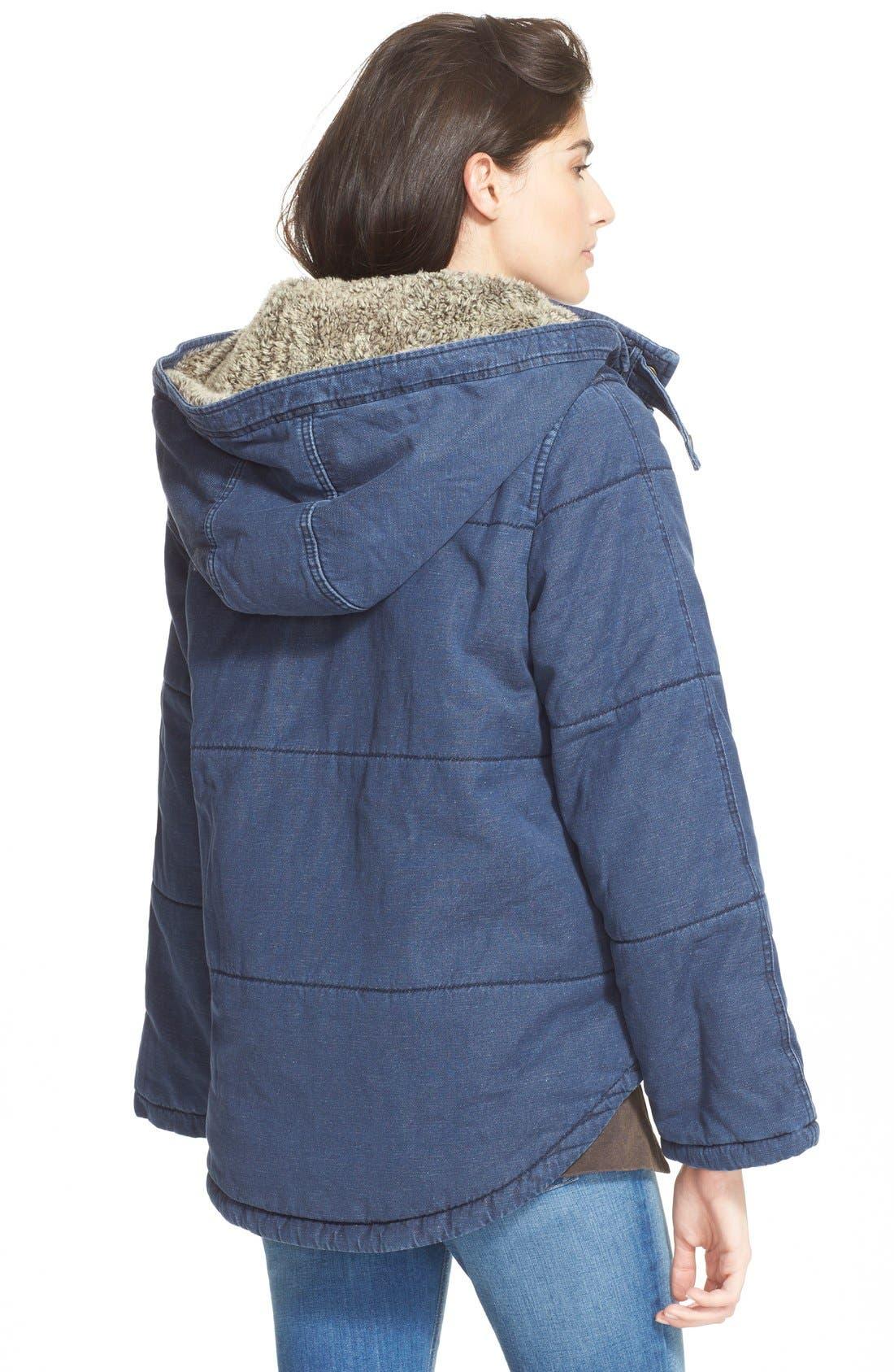 Quilted Denim Jacket,                             Alternate thumbnail 6, color,                             407