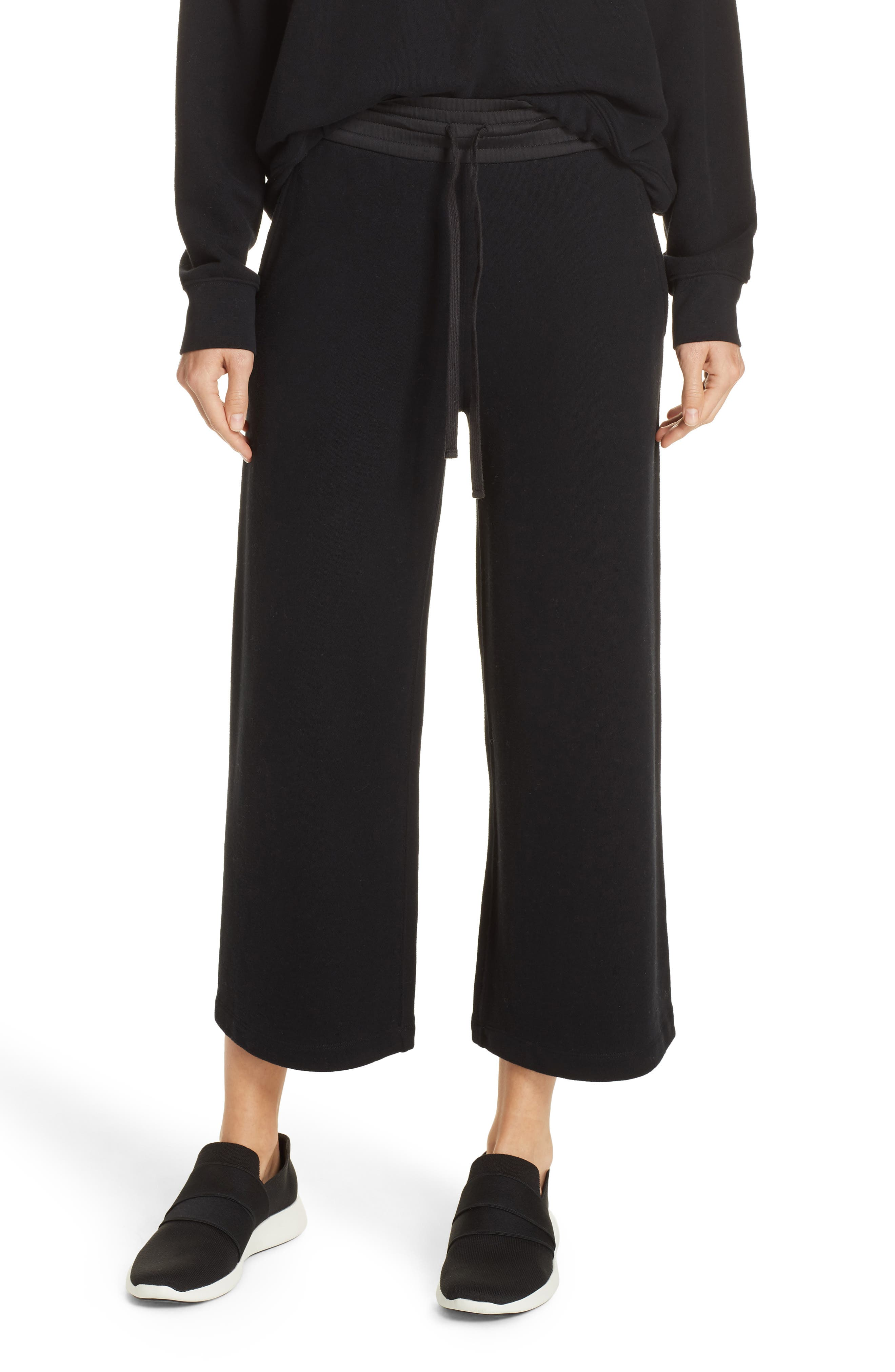 Cotton Culottes,                             Main thumbnail 1, color,                             BLACK