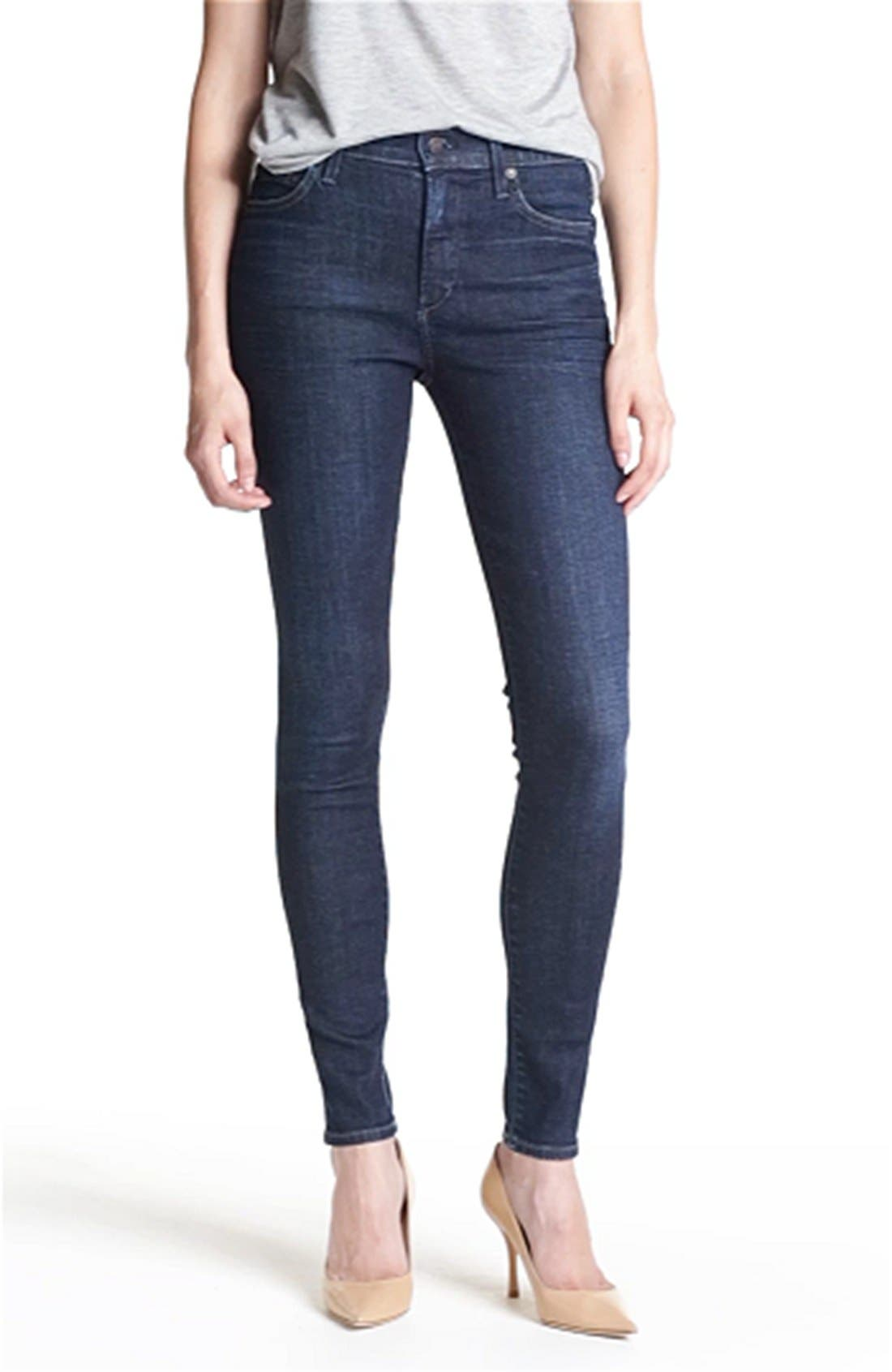 'Rocket' High Rise Skinny Jeans,                             Alternate thumbnail 4, color,                             420