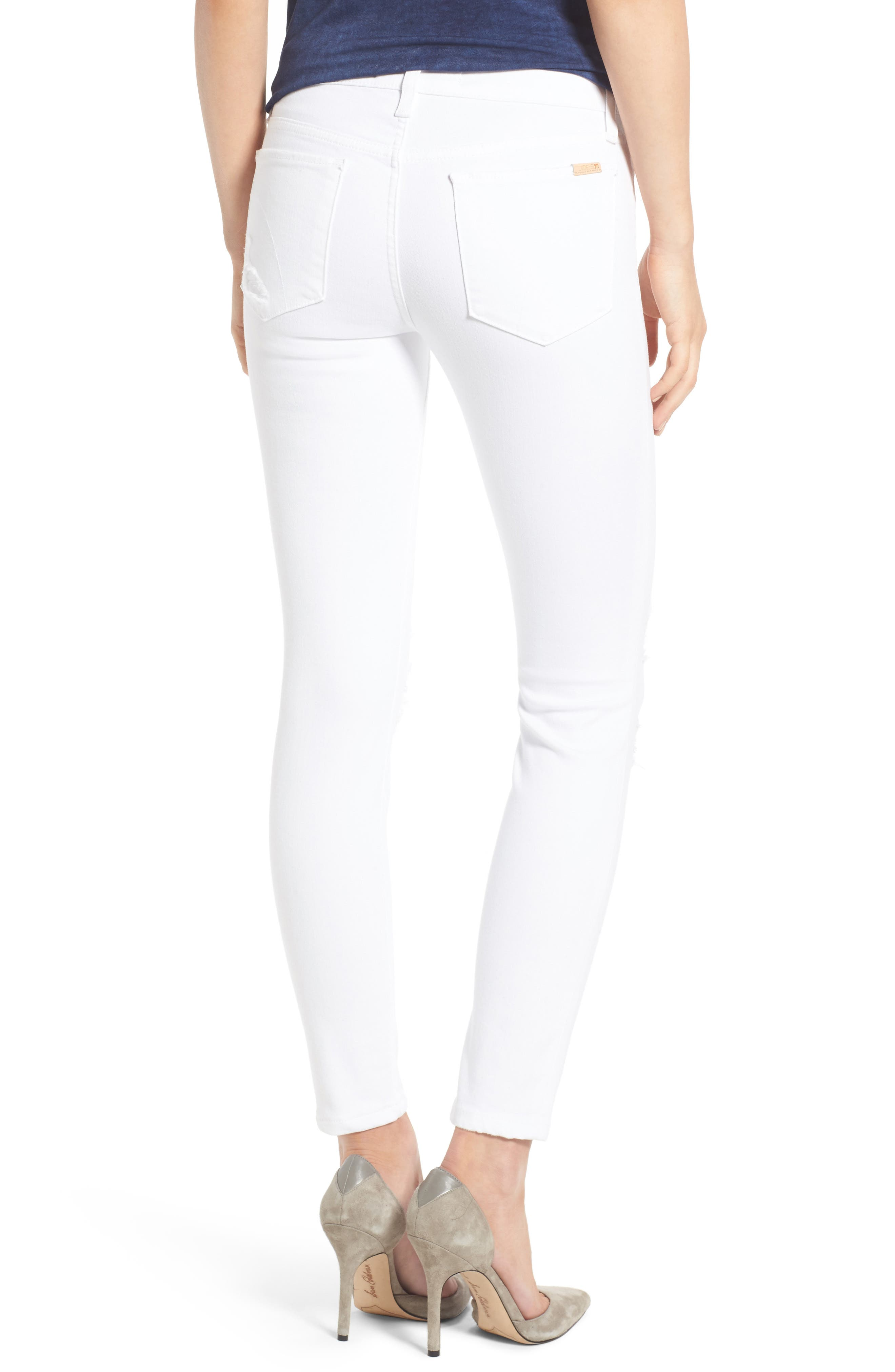 Icon Ankle Skinny Jeans,                             Alternate thumbnail 2, color,                             100