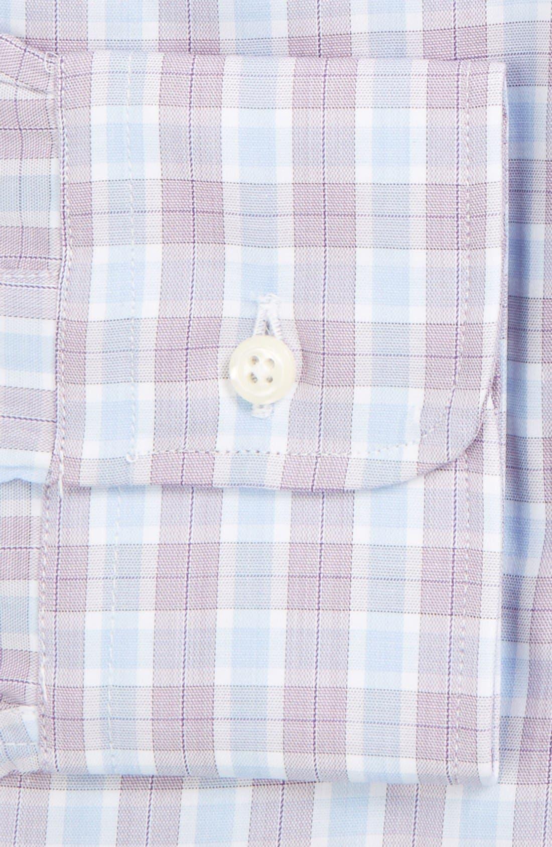 'Broadcloth' Regular Fit Check Dress Shirt,                             Alternate thumbnail 4, color,
