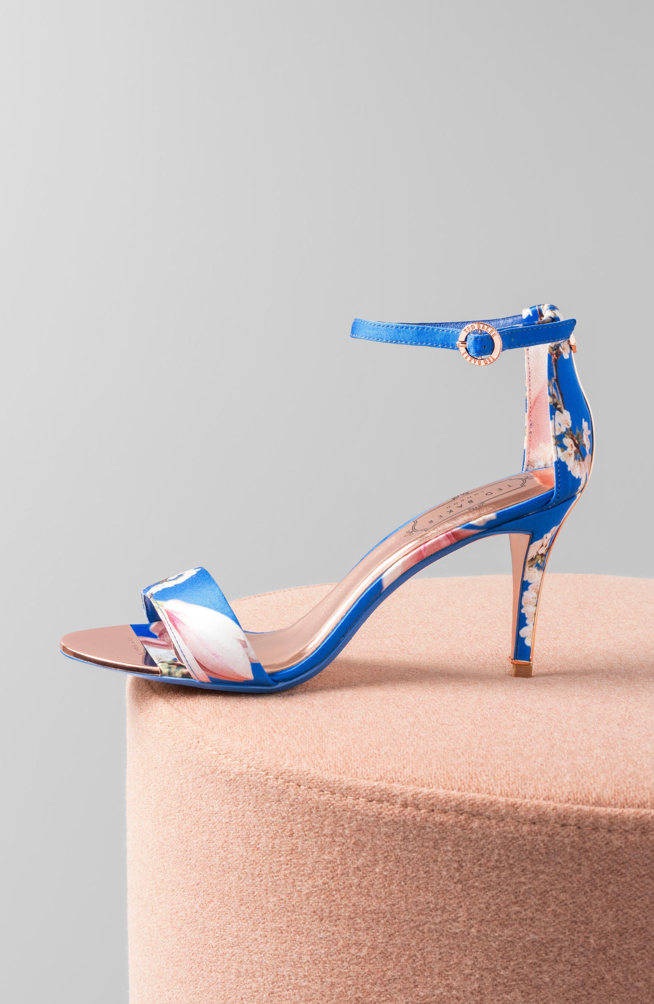 Mavbe Ankle Strap Sandal,                             Alternate thumbnail 7, color,                             BLUE HARMONY PRINT