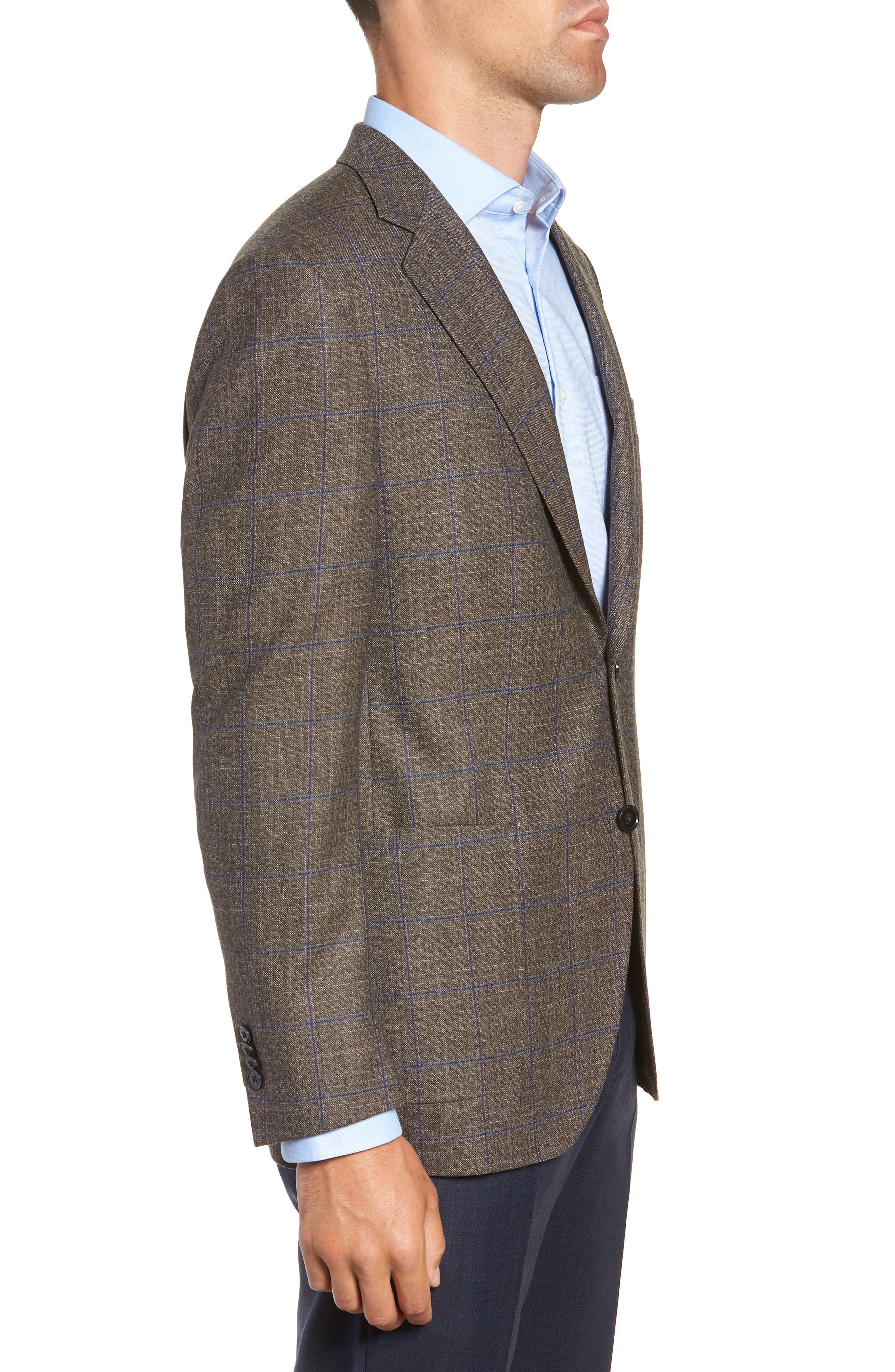 Hyperlight Classic Fit Wool Sport Coat,                             Alternate thumbnail 3, color,                             BROWN