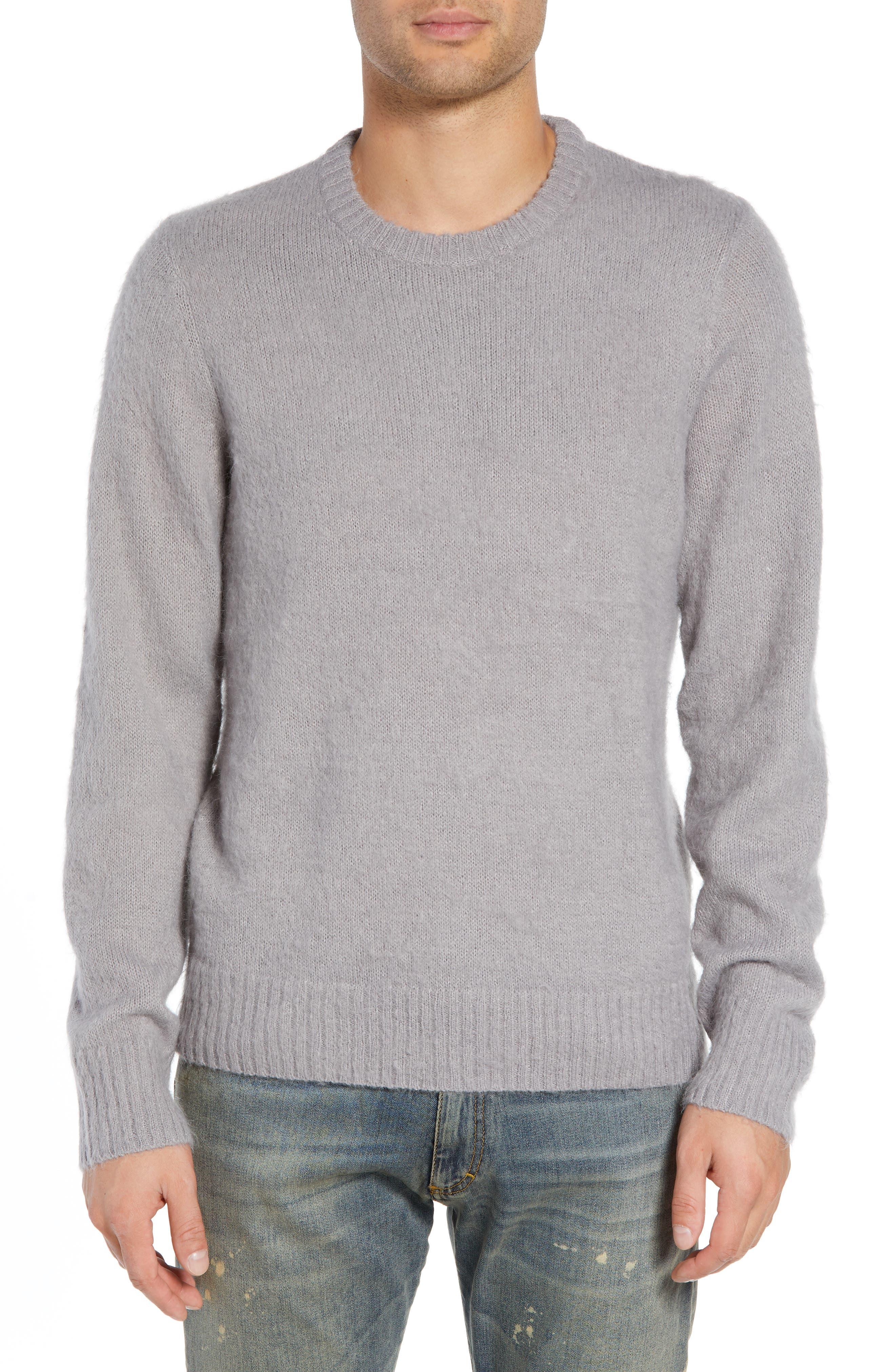 The Rail Fuzzy Sweater, Grey