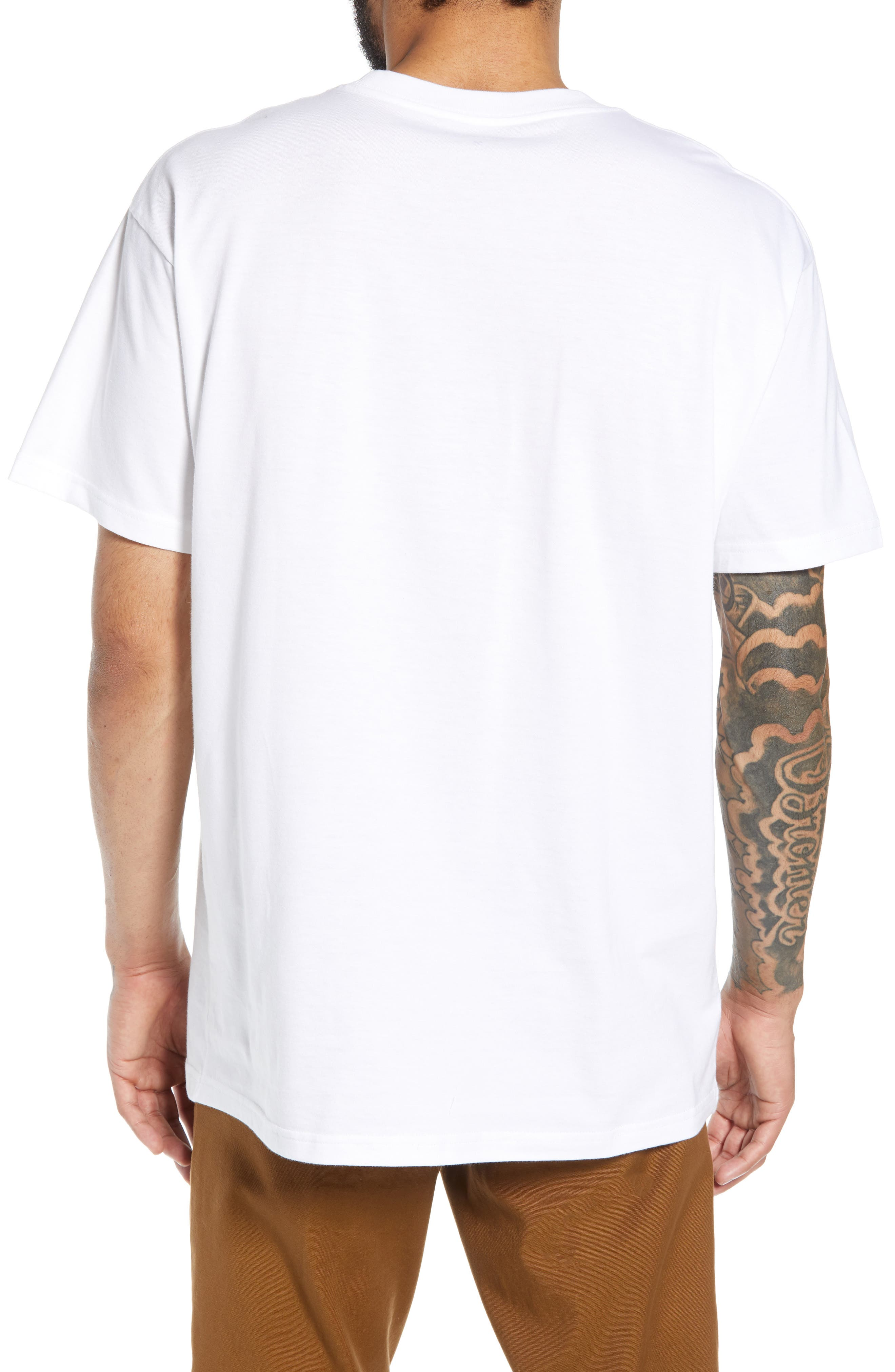 Panther Graphic T-Shirt,                             Alternate thumbnail 2, color,                             WHITE / BLACK