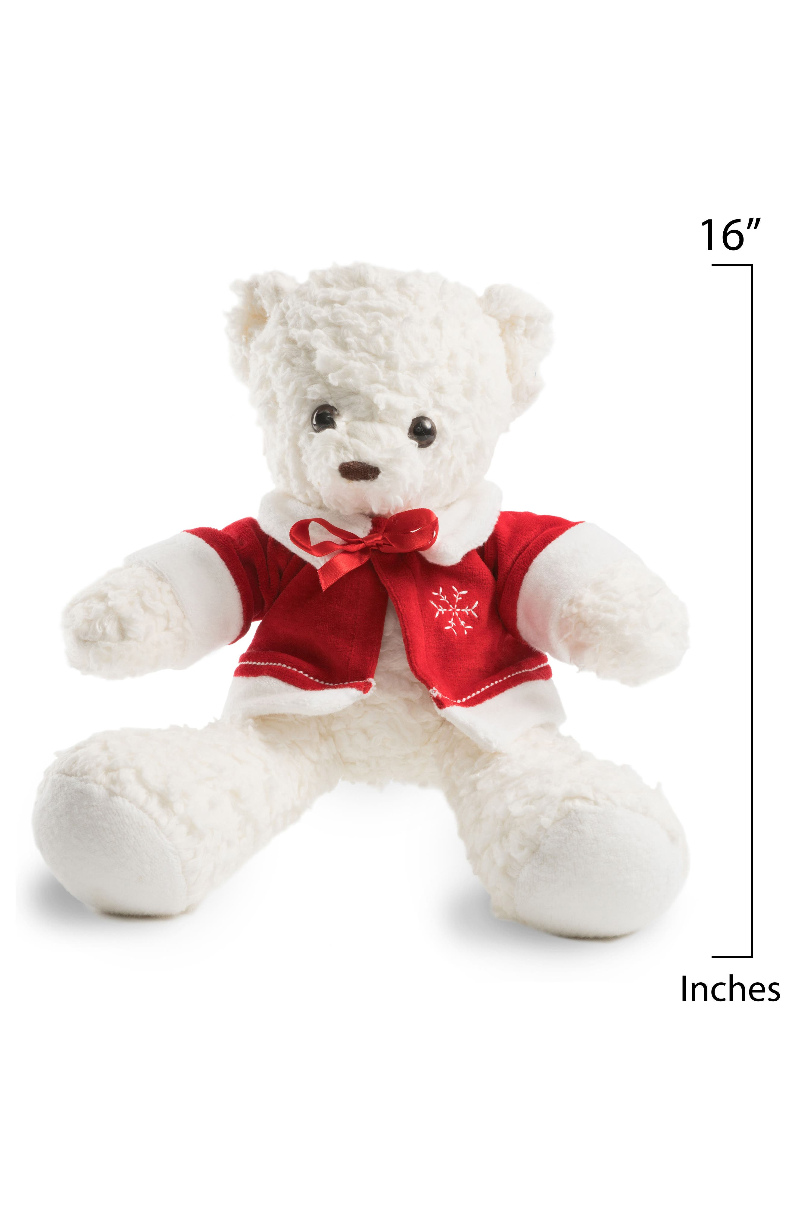 Medium Stuffed Bear with Holiday Jacket,                             Alternate thumbnail 2, color,                             100