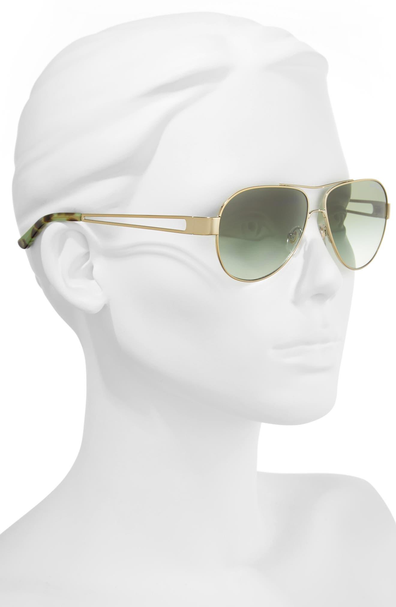 55mm Polarized Aviator Sunglasses,                             Alternate thumbnail 7, color,