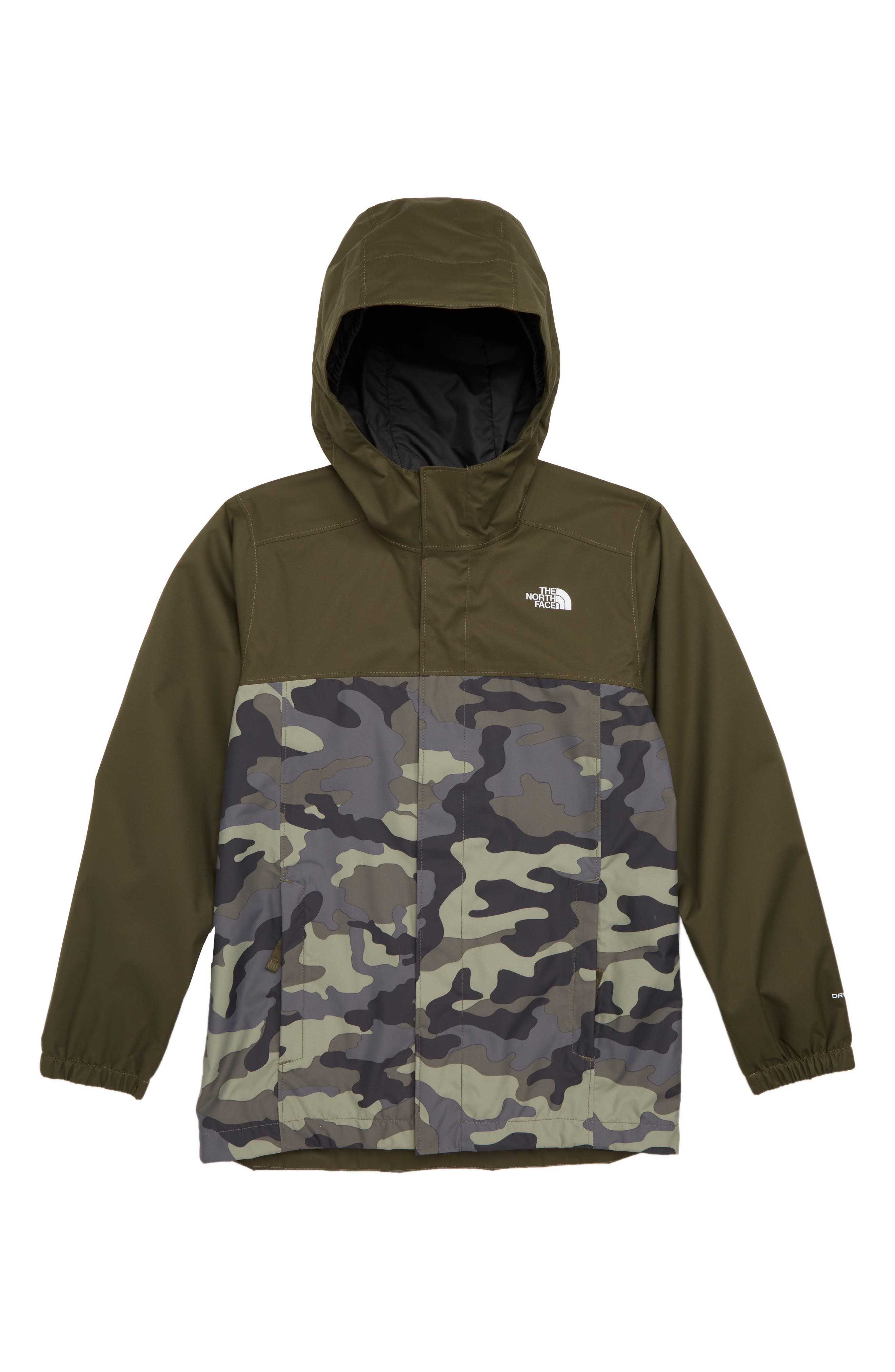 Resolve Waterproof Jacket,                             Main thumbnail 1, color,                             GREEN CAMOUFLAGE PRINT