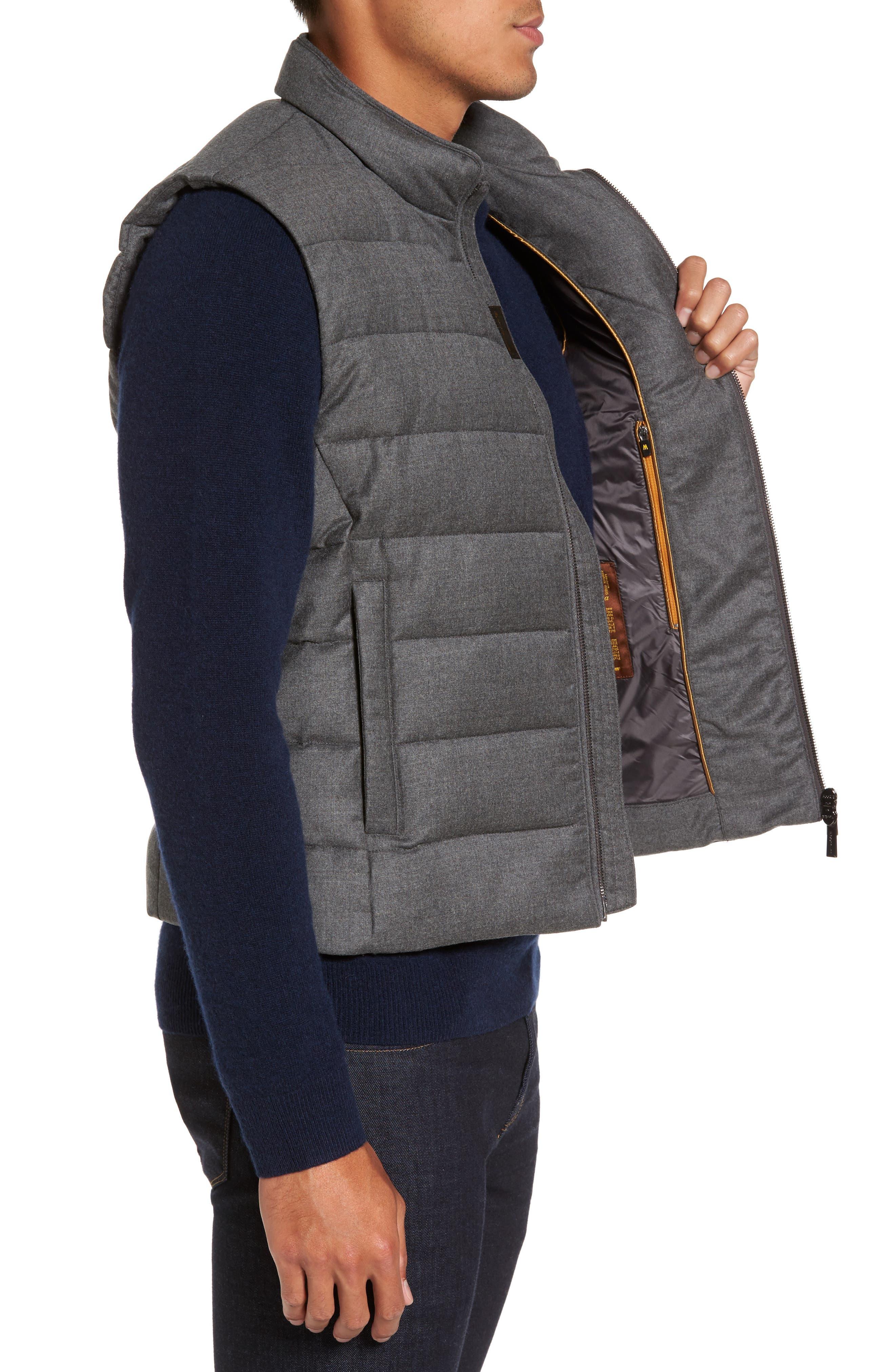 Oliver L Wool & Cashmere Flannel Waterproof Vest,                             Alternate thumbnail 3, color,                             030
