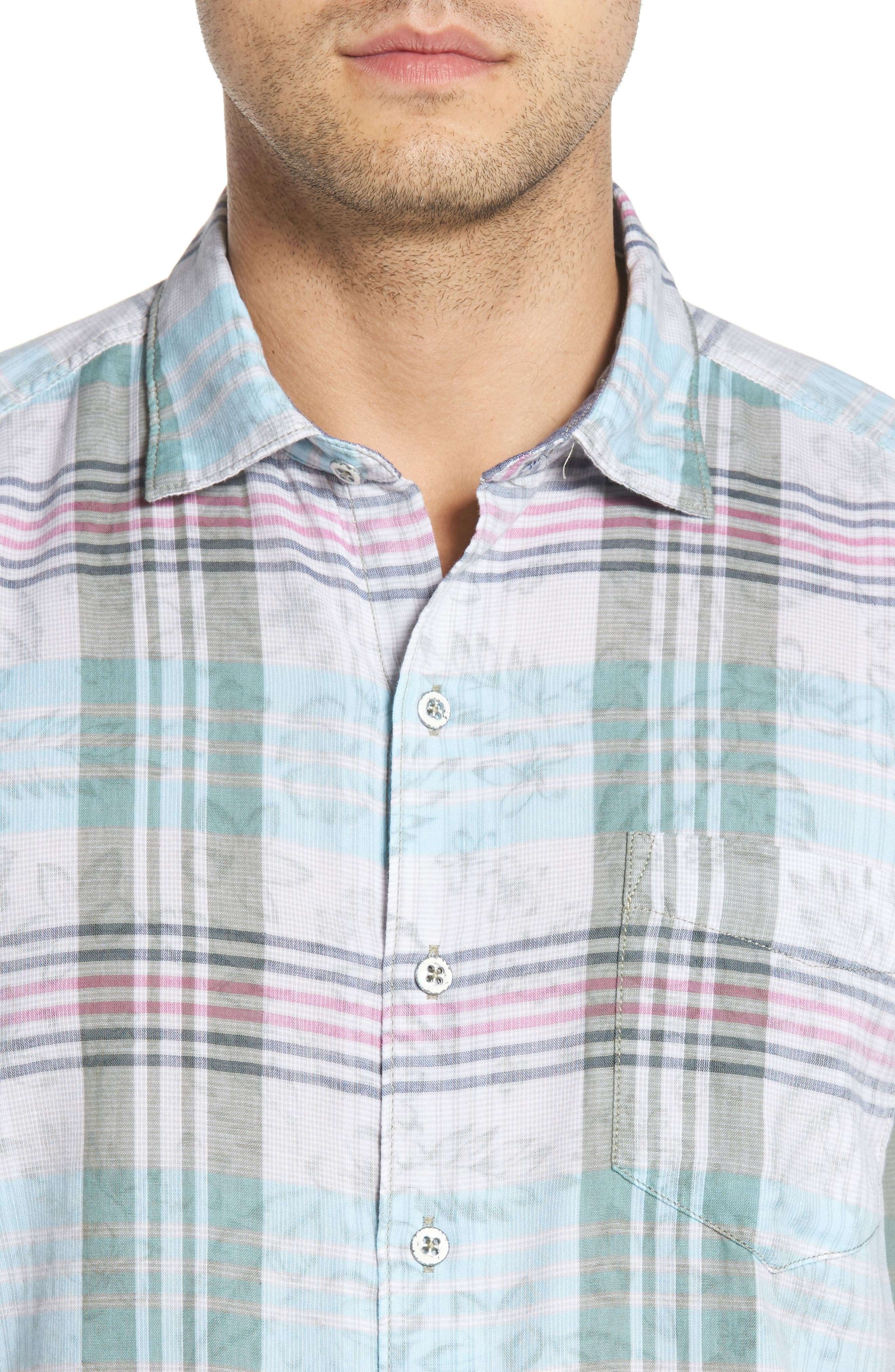 Zuma Plaid Sport Shirt,                             Alternate thumbnail 4, color,                             300