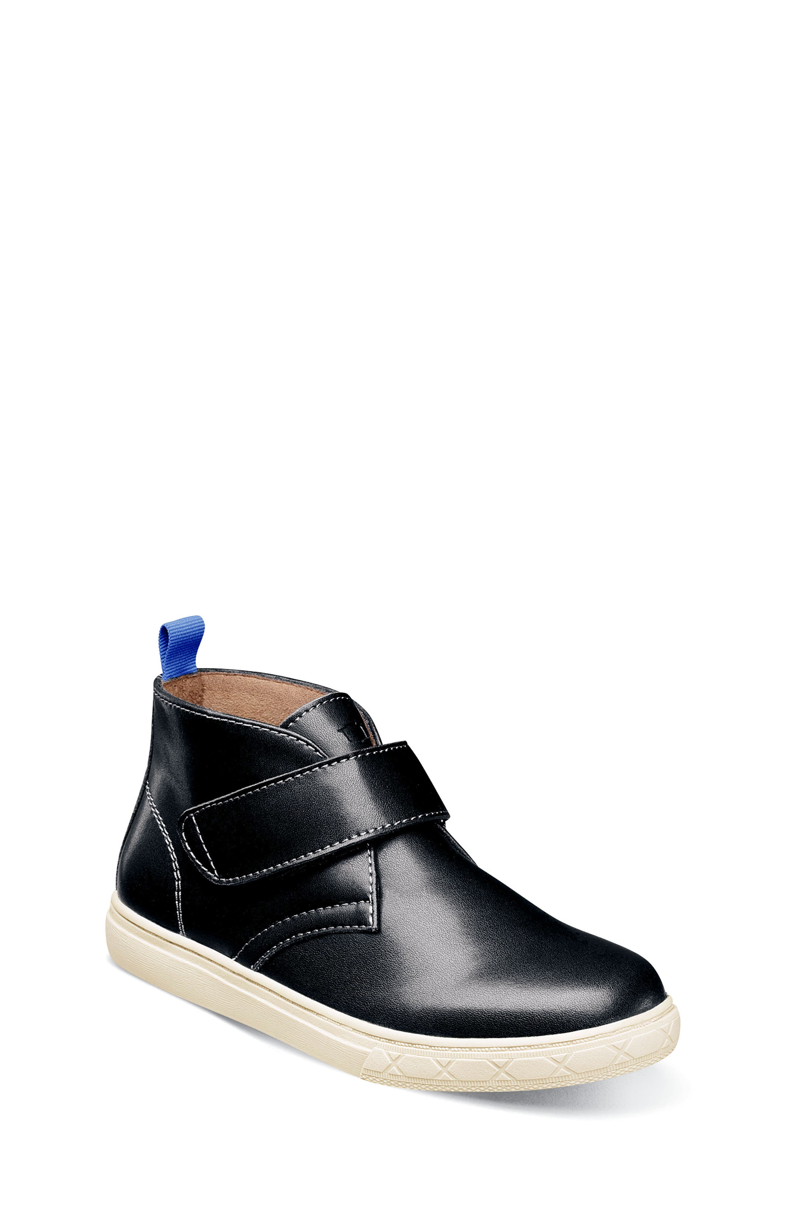 Curb Chukka Boot,                         Main,                         color, BLACK LEATHER