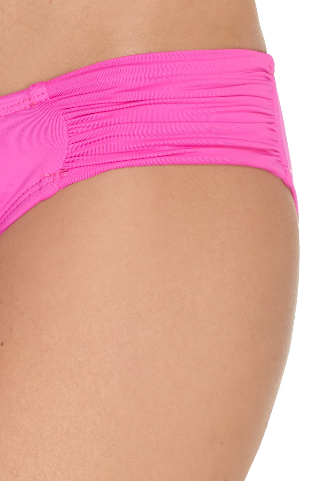 Island Blanca Halter Bikini Top,                             Alternate thumbnail 4, color,                             ELECTRIC PINK