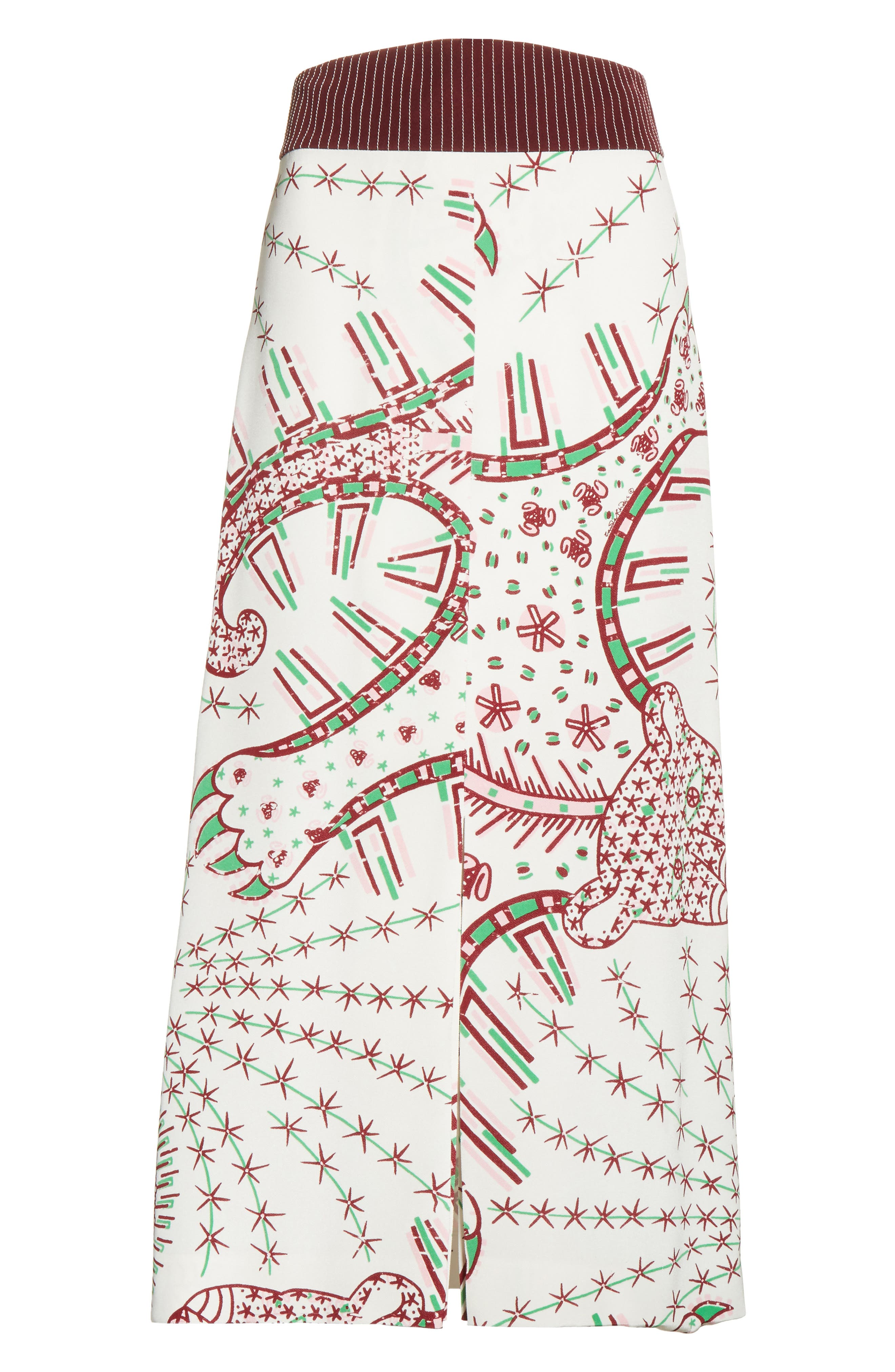 Leopard Cady Skirt,                             Alternate thumbnail 6, color,                             100