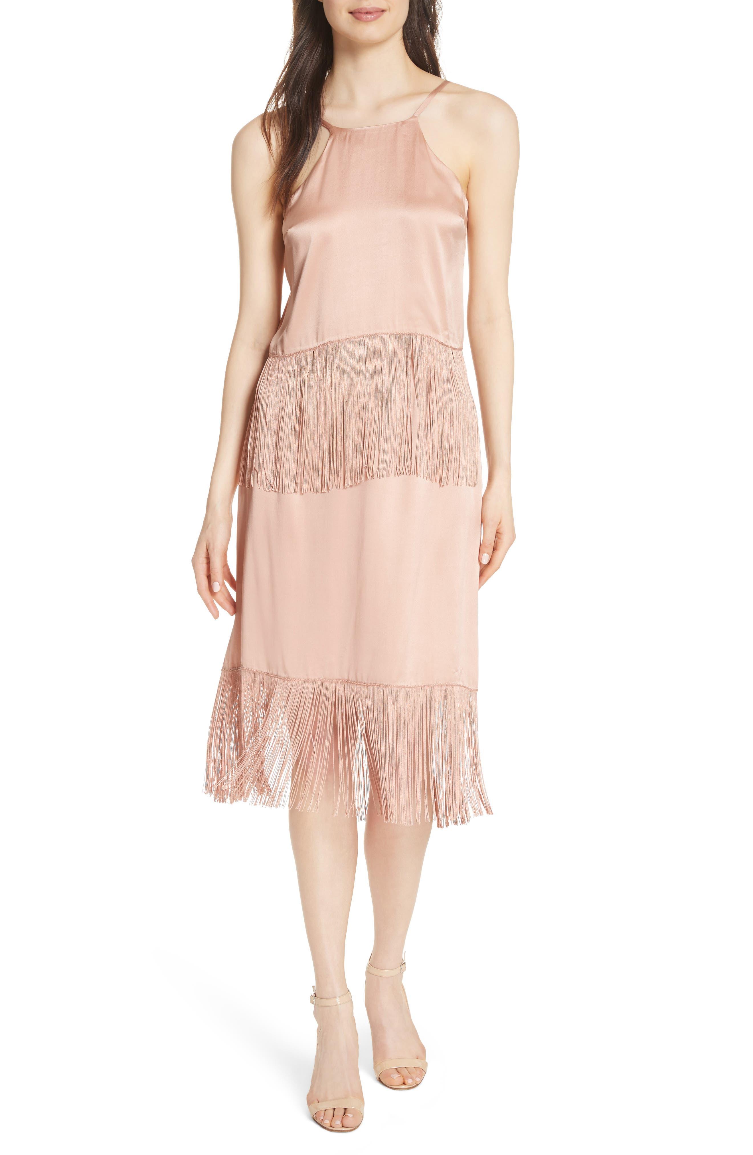 Fringe Silk Skirt,                             Alternate thumbnail 7, color,                             657