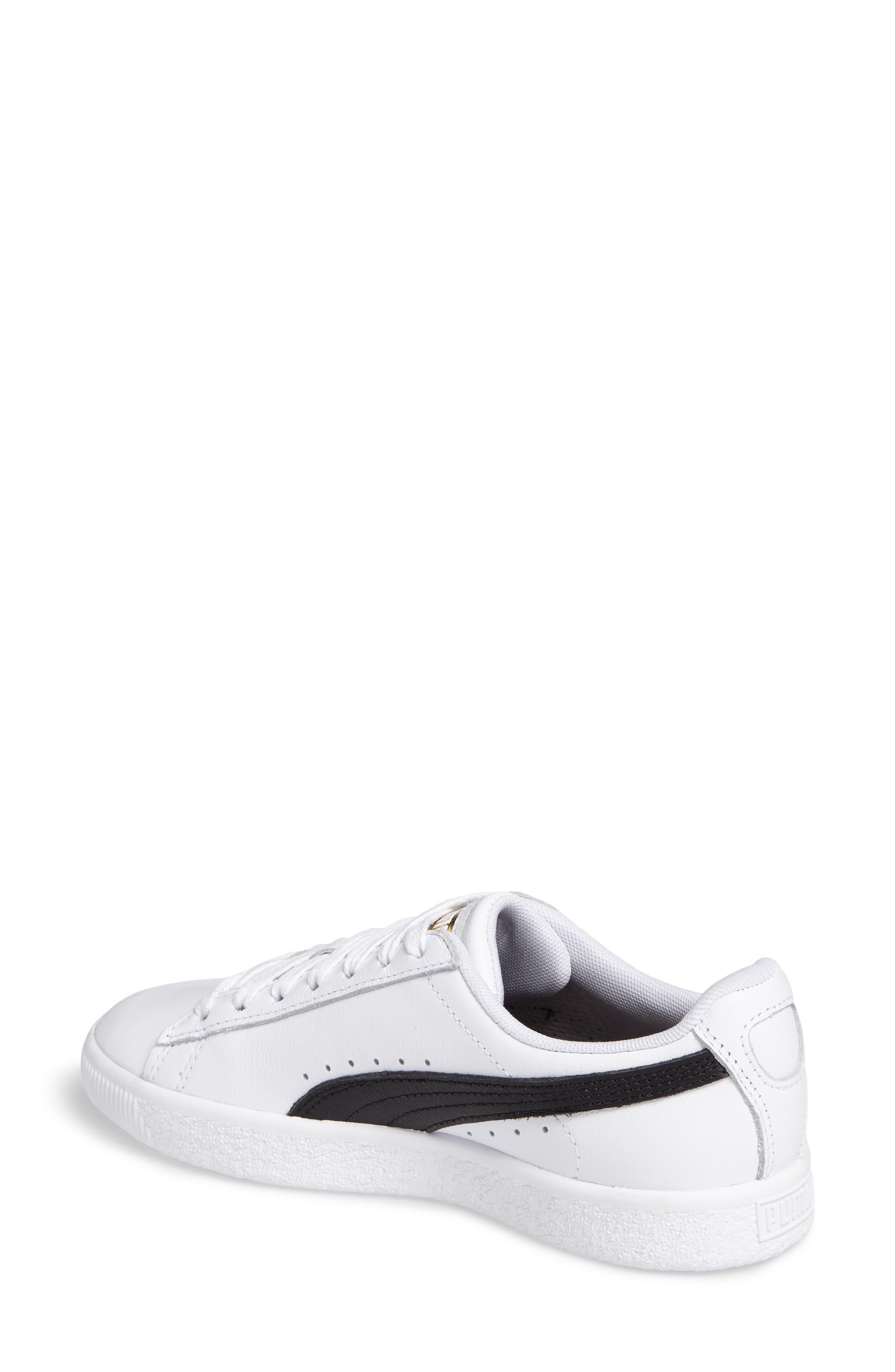 Clyde Sneaker,                             Alternate thumbnail 2, color,                             WHITE/ BLACK/ GOLD