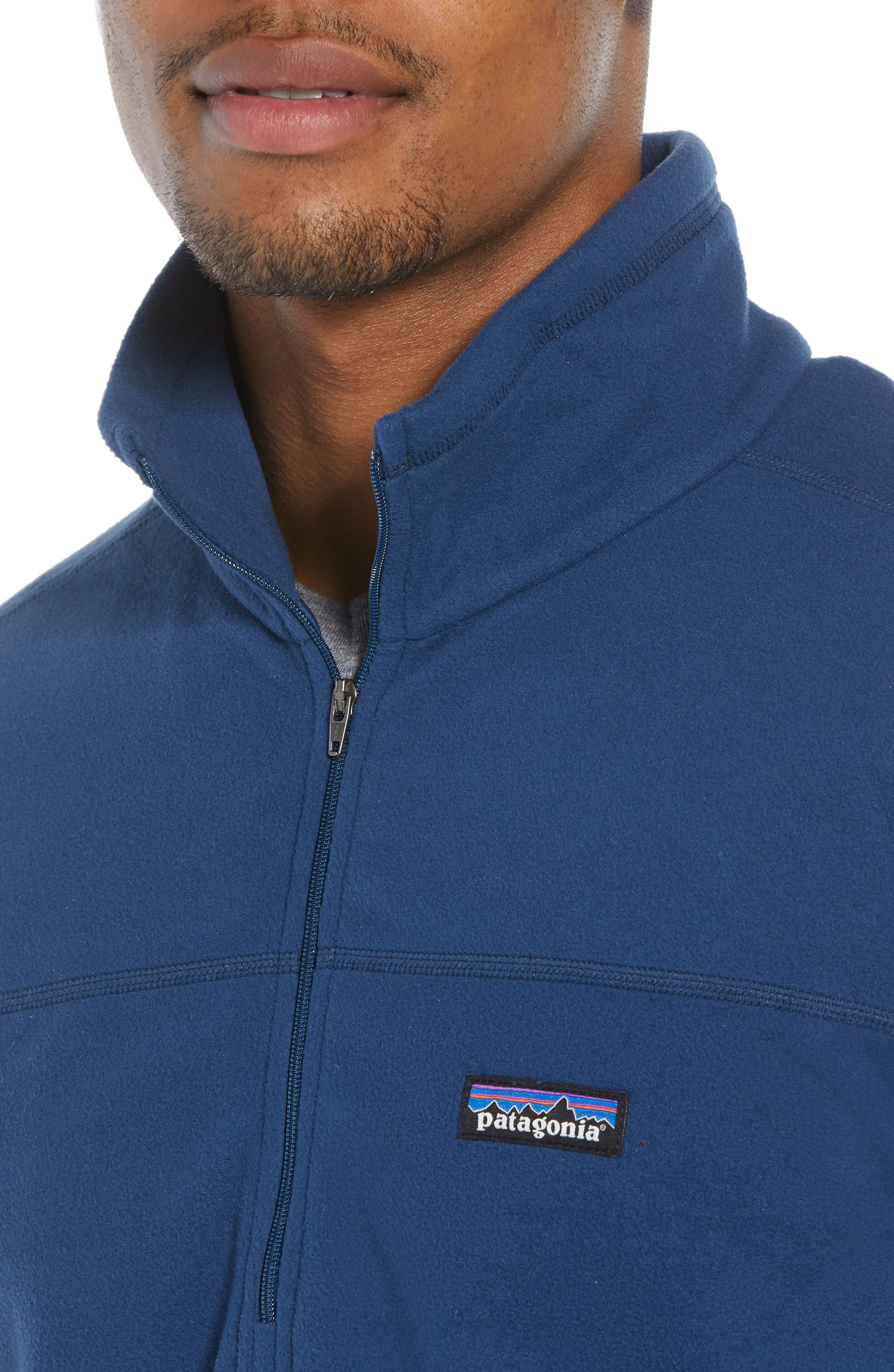 Fleece Pullover,                             Alternate thumbnail 4, color,                             STONE BLUE