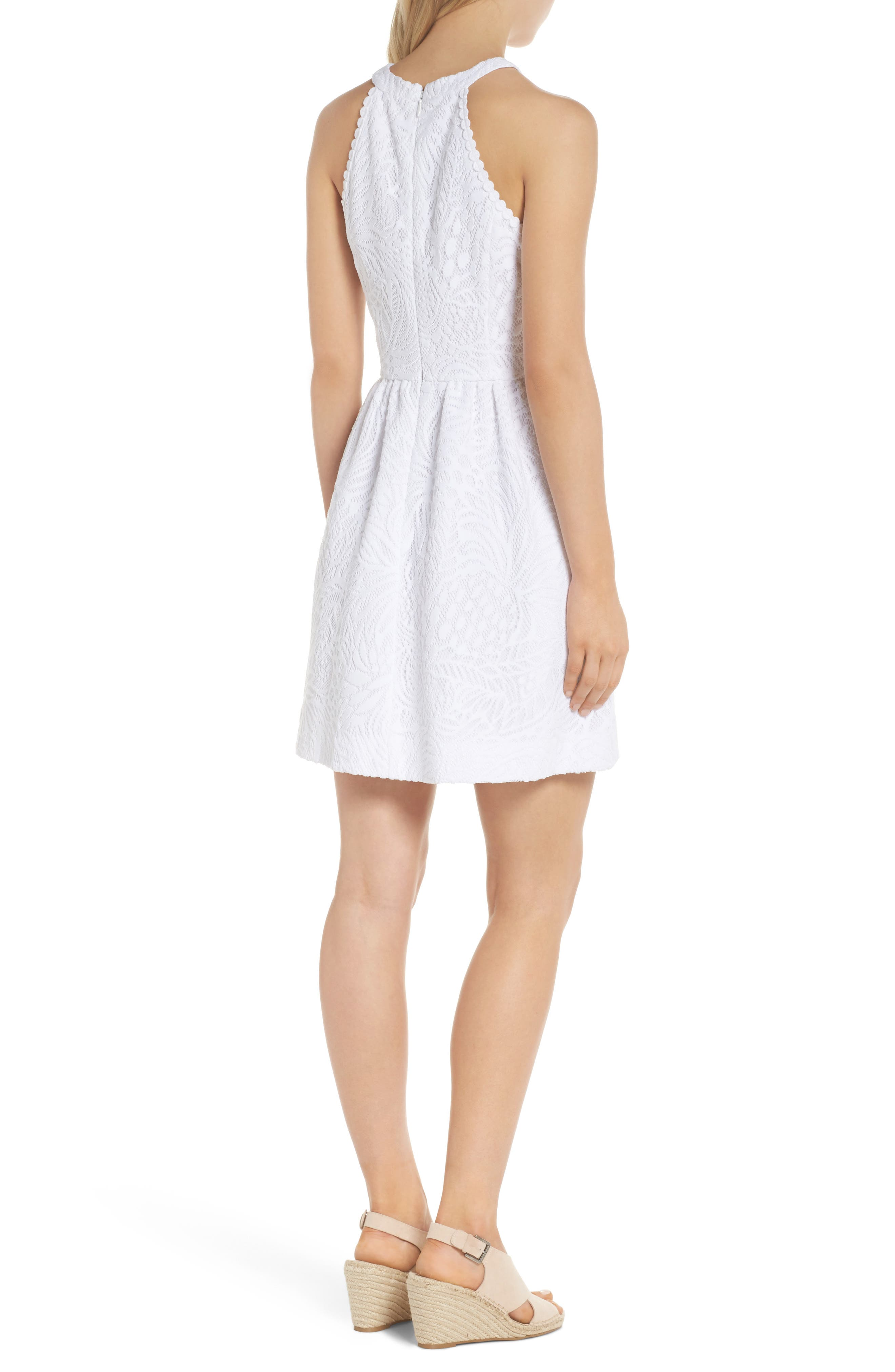 Kinley Halter Dress,                             Alternate thumbnail 2, color,                             RESORT WHITE TROPICAL LACE