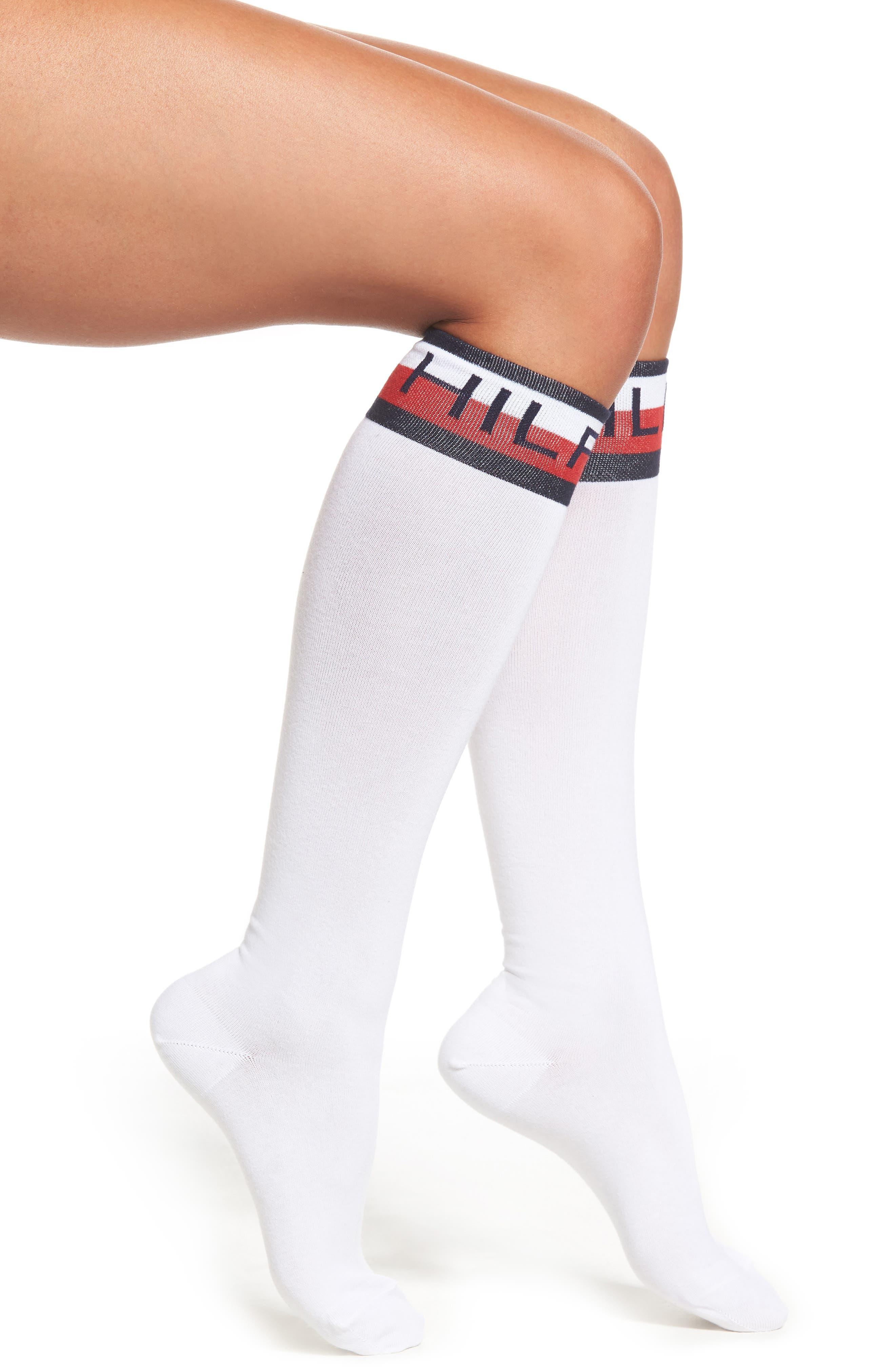 Logo Knee High Socks,                             Main thumbnail 1, color,                             100
