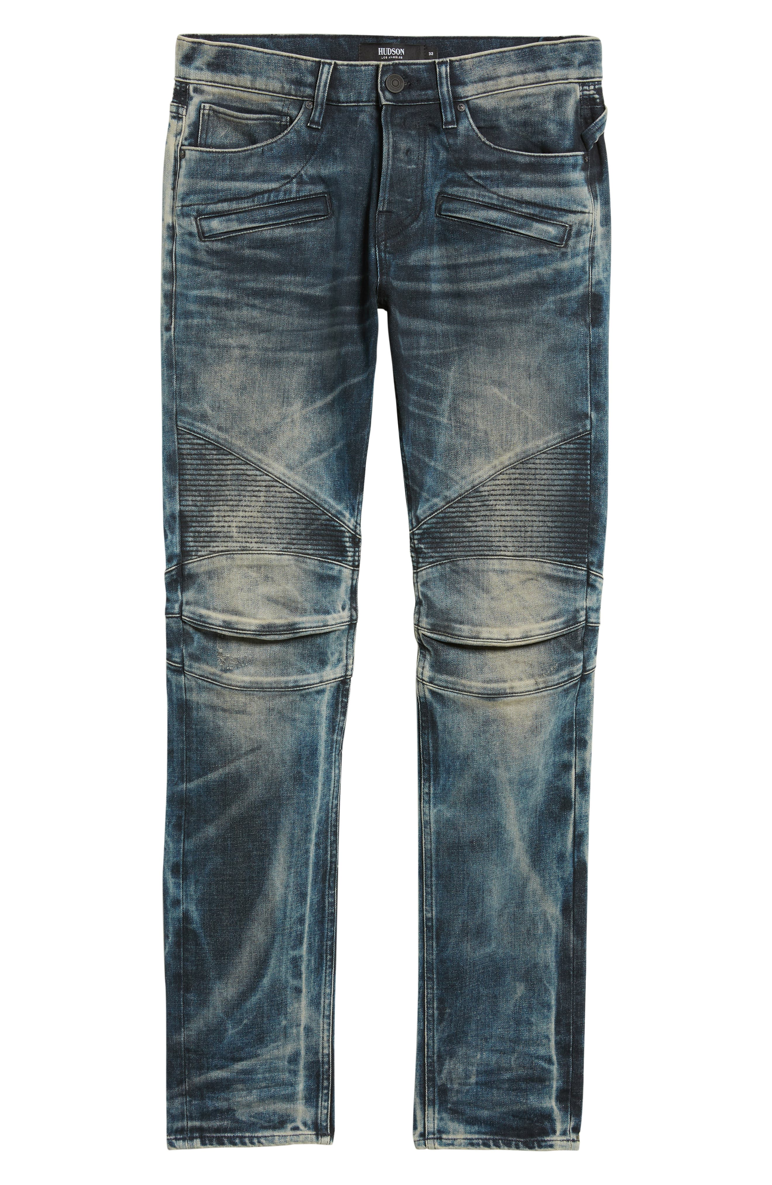 Blinder Biker Skinny Fit Jeans,                             Alternate thumbnail 6, color,                             MARTINO