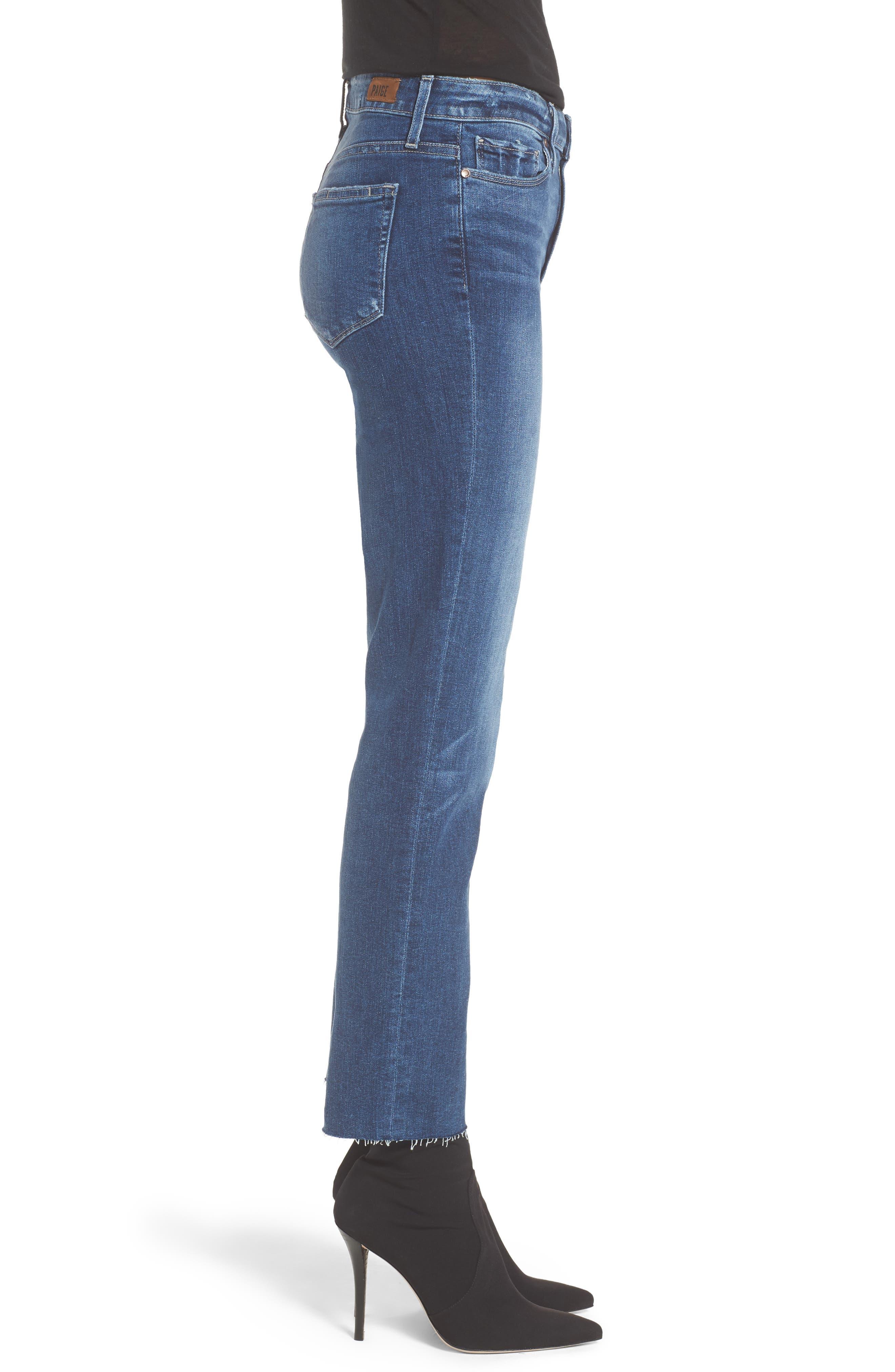 Transcend - Hoxton Ankle Straight Leg Jeans,                             Alternate thumbnail 3, color,                             400
