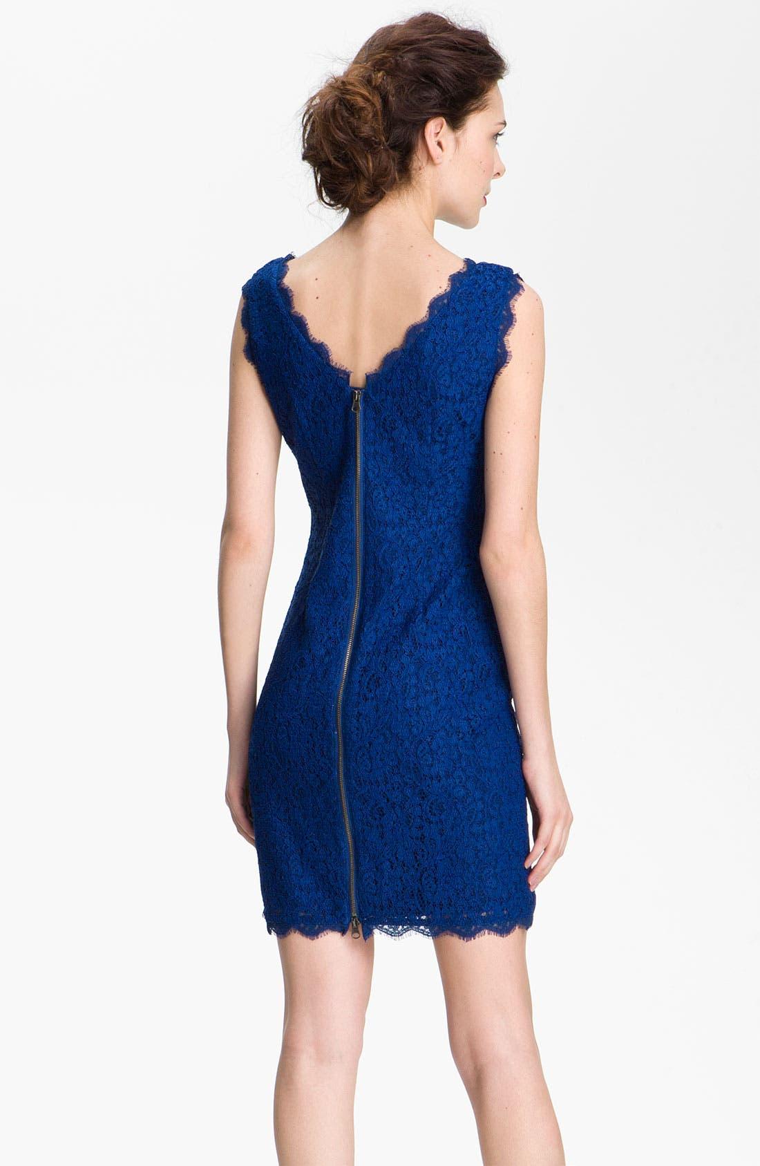 Boatneck Lace Sheath Dress,                             Alternate thumbnail 107, color,