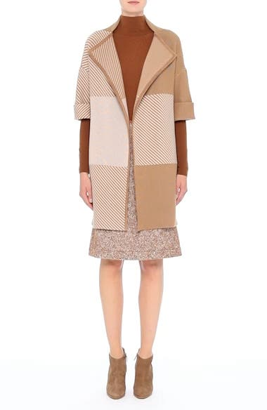 Flannel Bicolor Jacquard Coat, video thumbnail