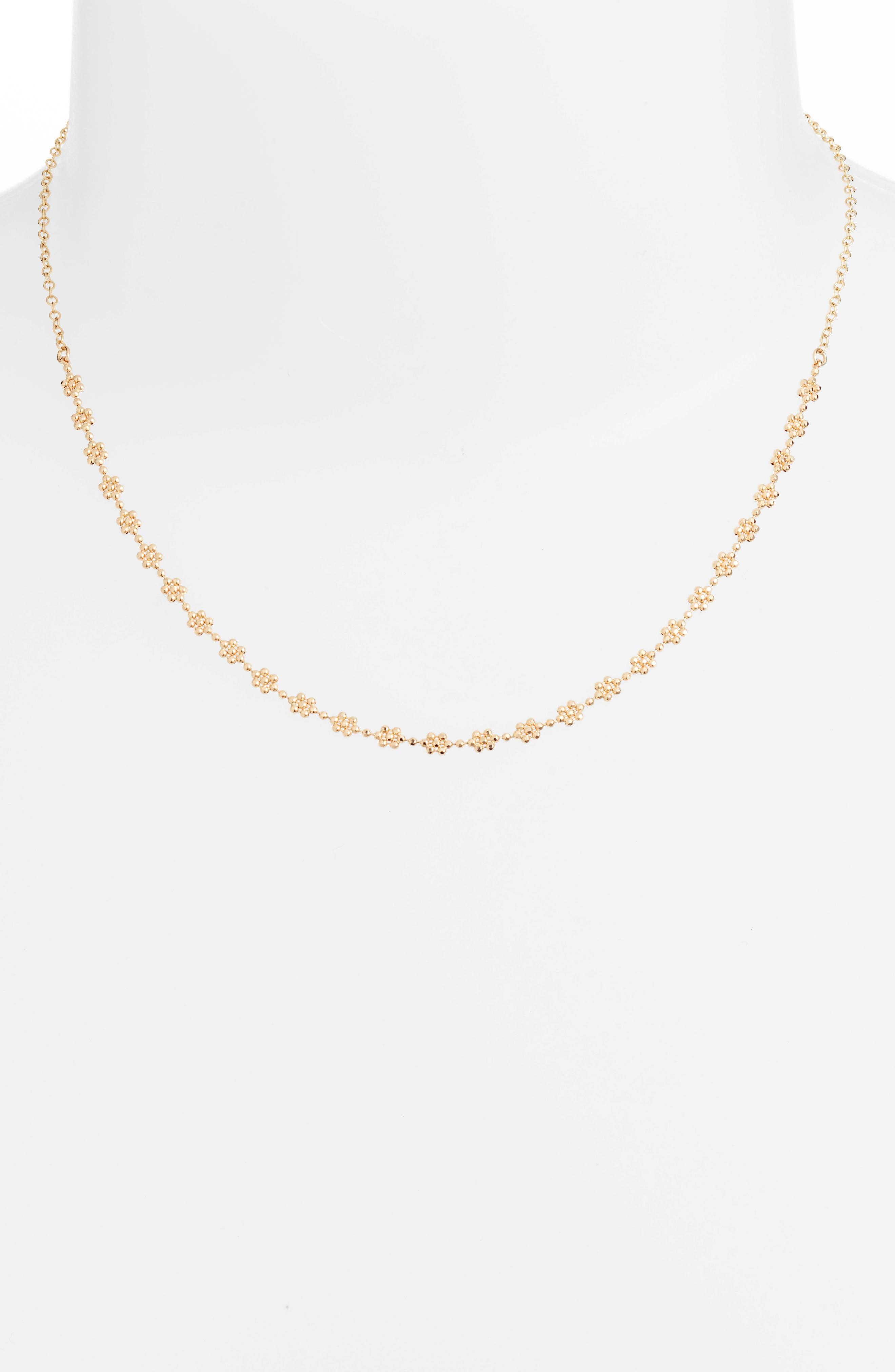 Shimmer Flower Choker Necklace,                             Alternate thumbnail 2, color,                             710