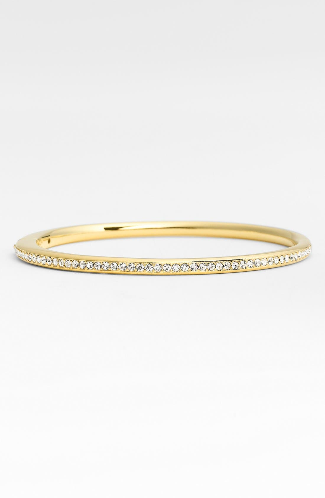 NADRI,                             Channel Set Crystal Hinged Bangle,                             Alternate thumbnail 2, color,                             GOLD/ CLEAR CRYSTAL