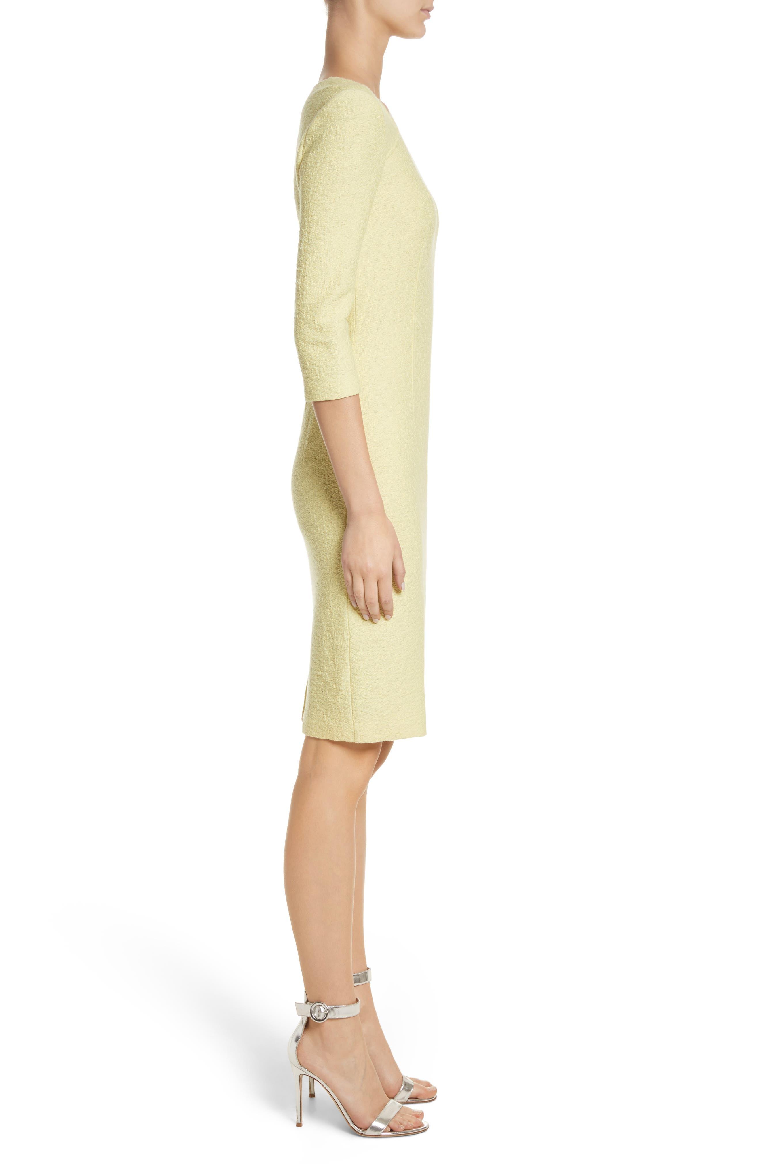 Hannah Knit Asymmetrical Sheath Dress,                             Alternate thumbnail 3, color,                             730
