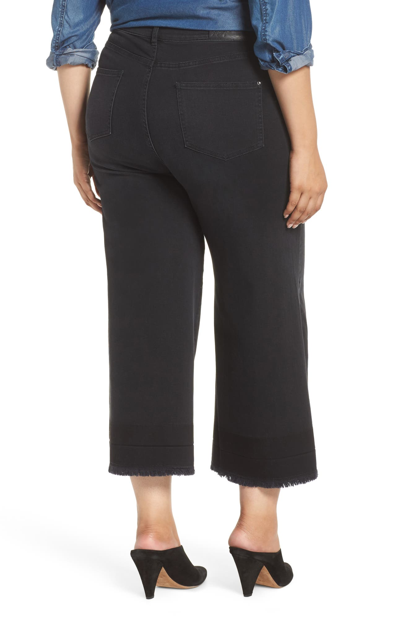 bad638af1518f Ashley Graham x Marina Rinaldi Igloo High Rise Crop Flare Jeans (Plus Size)