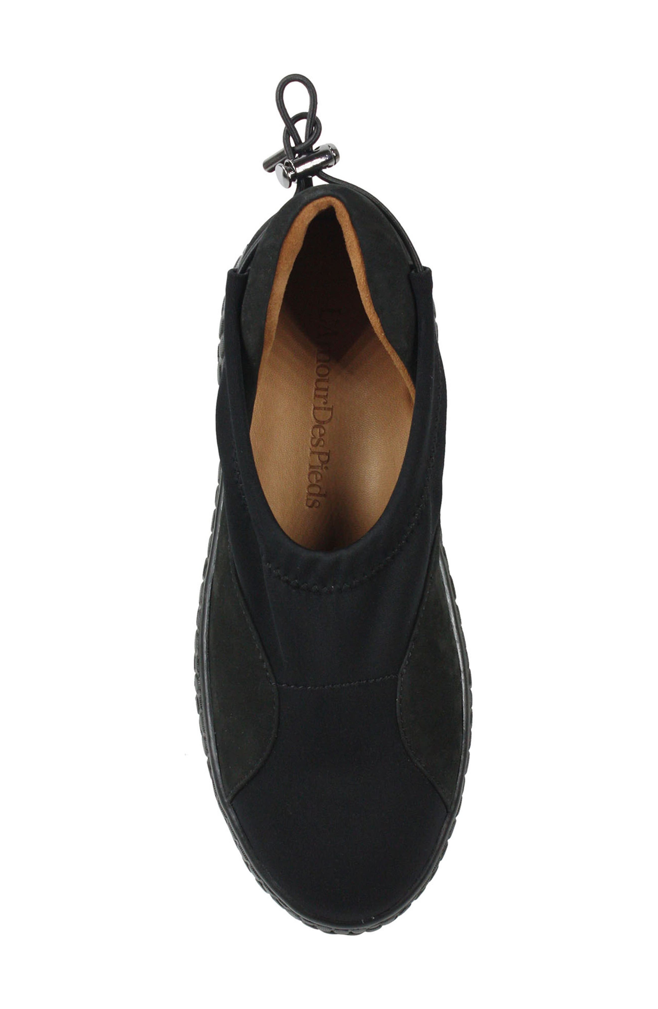 Zaidee Flat,                             Alternate thumbnail 5, color,                             BLACK NUBUCK LEATHER