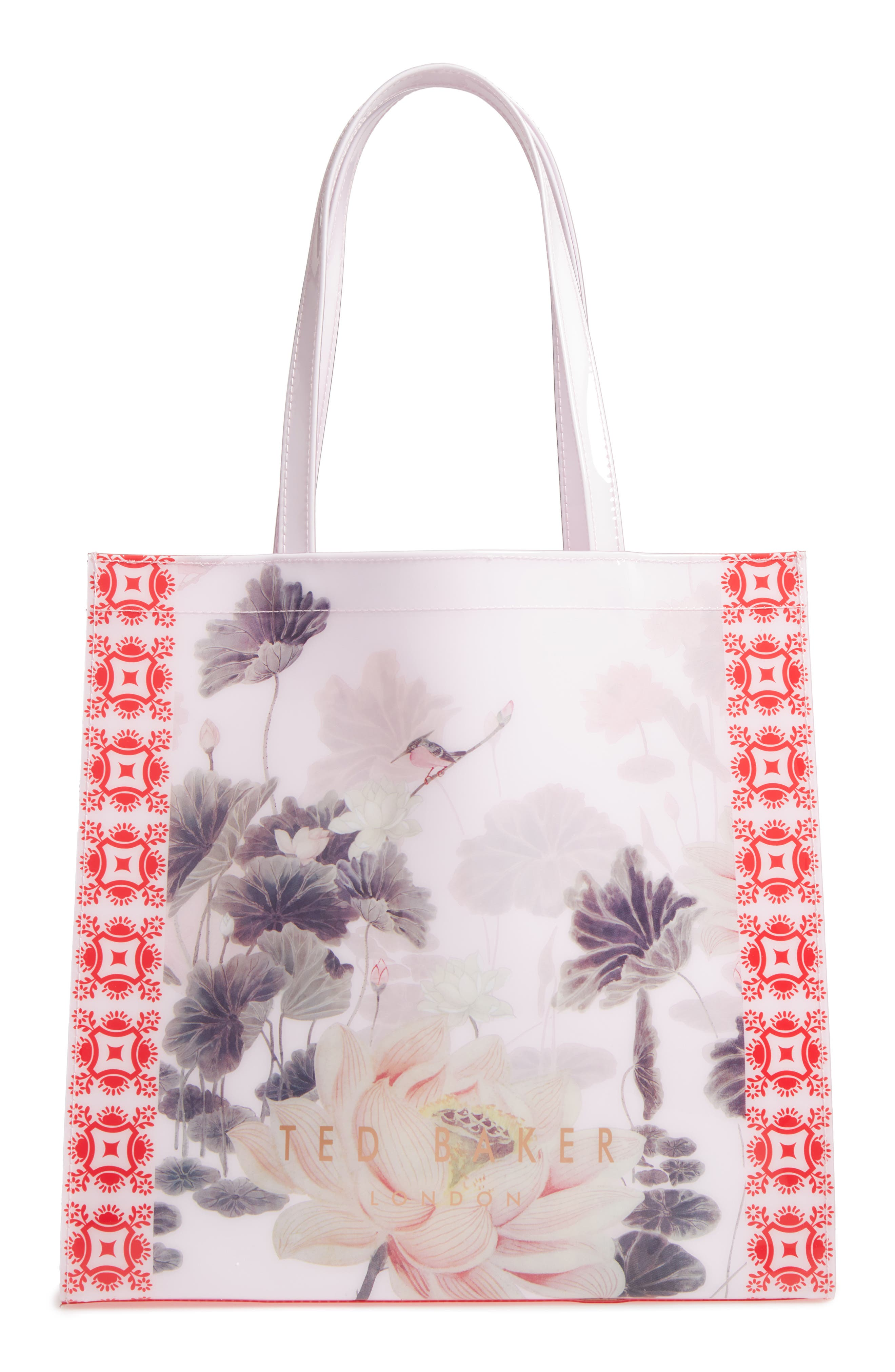 Lake of Dreams Large Icon Tote,                         Main,                         color, DUSKY PINK