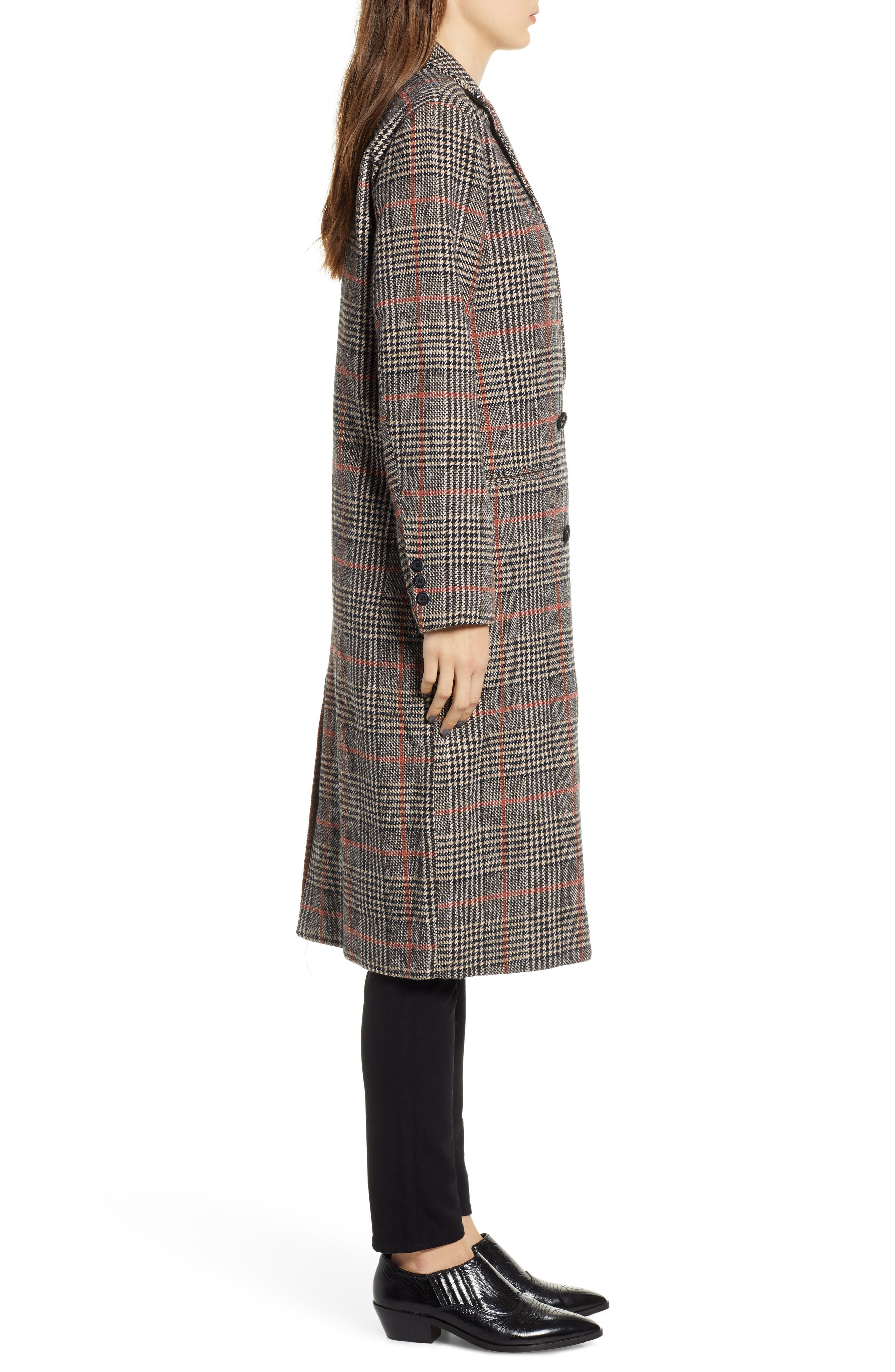 CUPCAKES AND CASHMERE,                             Plaid Duster Jacket,                             Alternate thumbnail 3, color,                             020