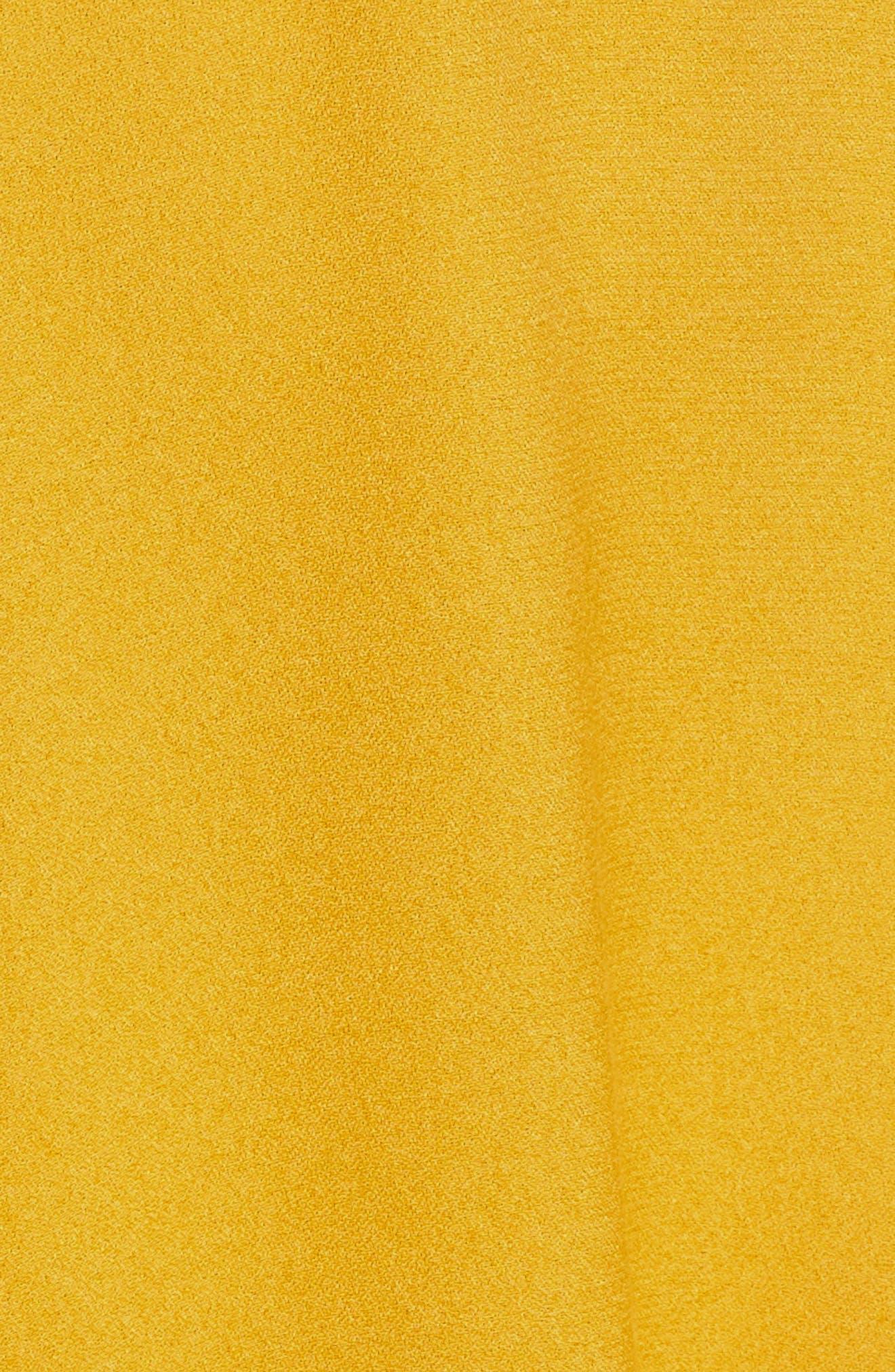 Enzo Cold Shoulder Fit & Flare Dress,                             Alternate thumbnail 6, color,