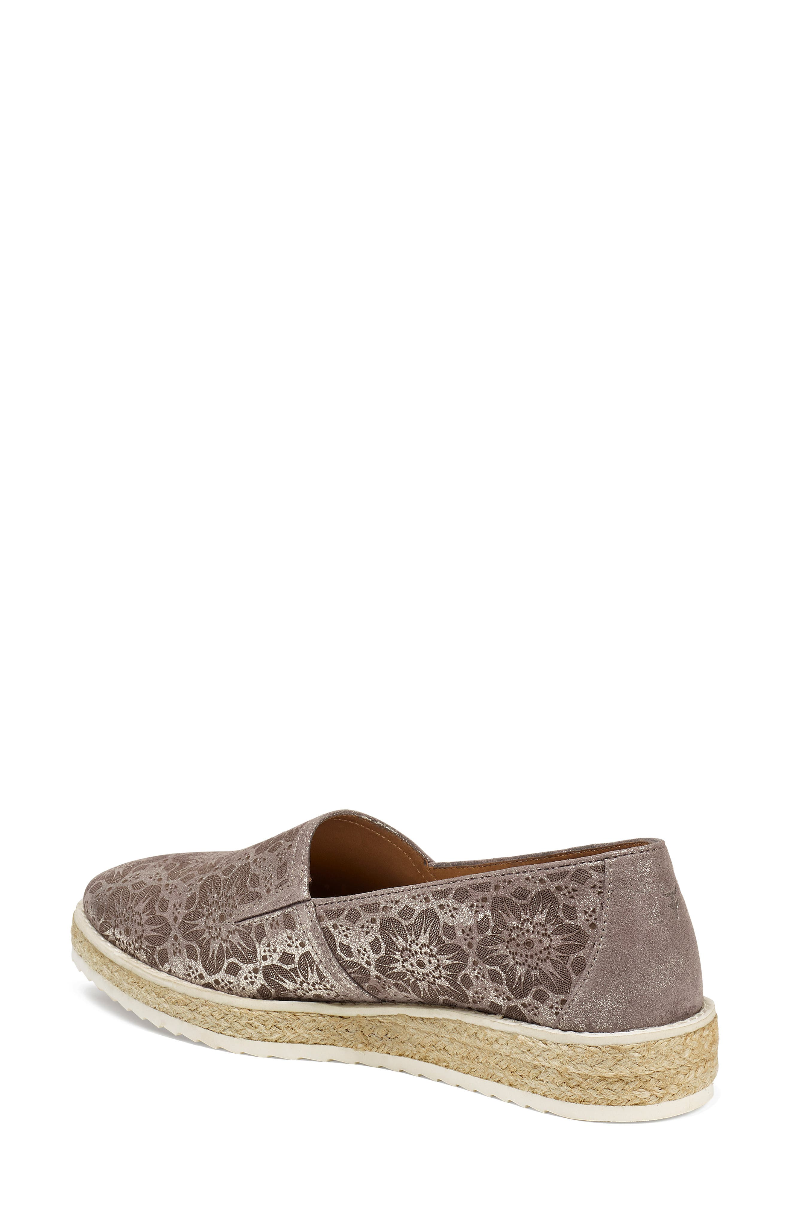 Cailyn Flat,                             Alternate thumbnail 2, color,                             PEWTER METALLIC SUEDE
