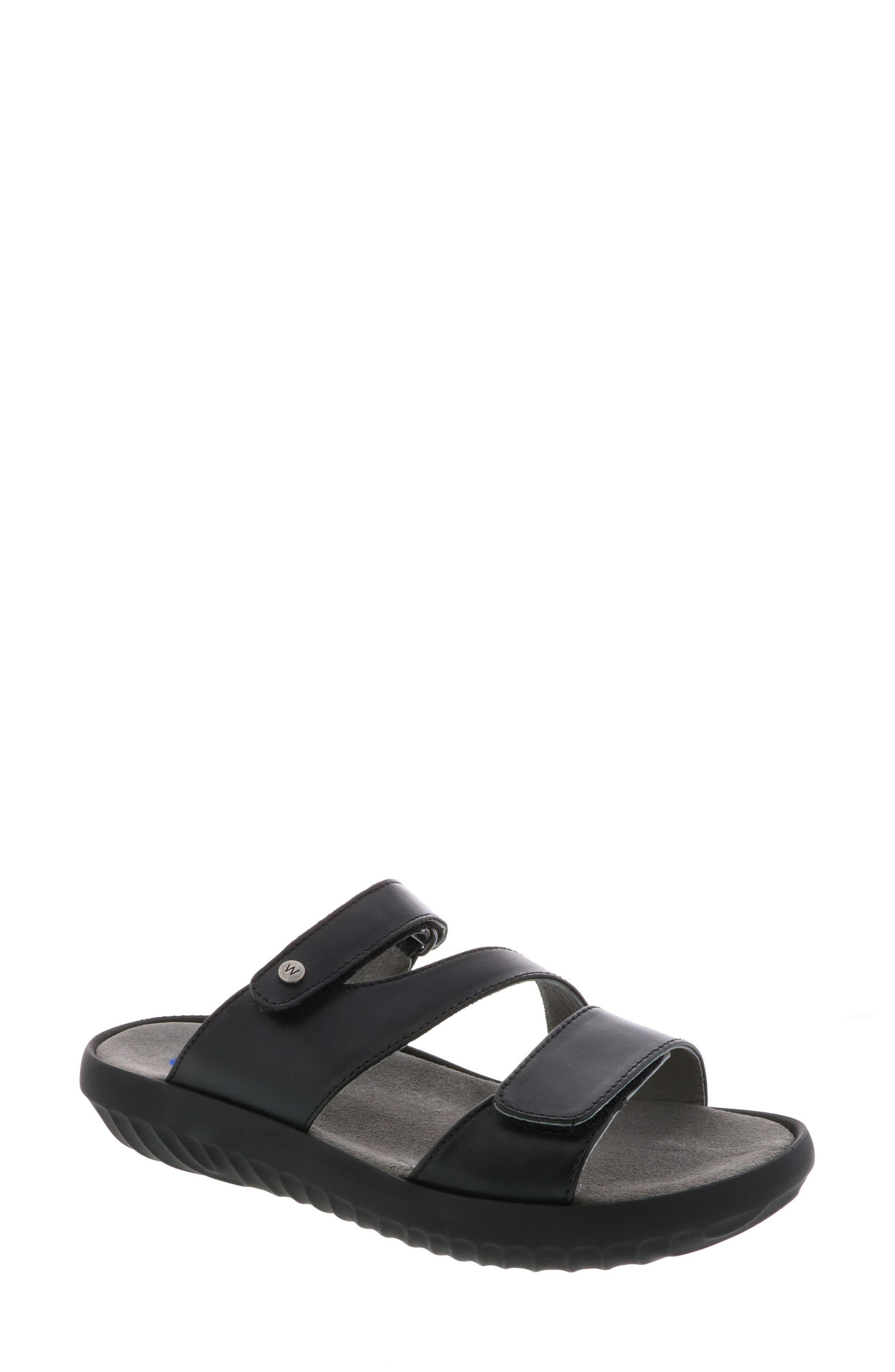 Sense Slide Sandal,                             Main thumbnail 1, color,                             BLACK