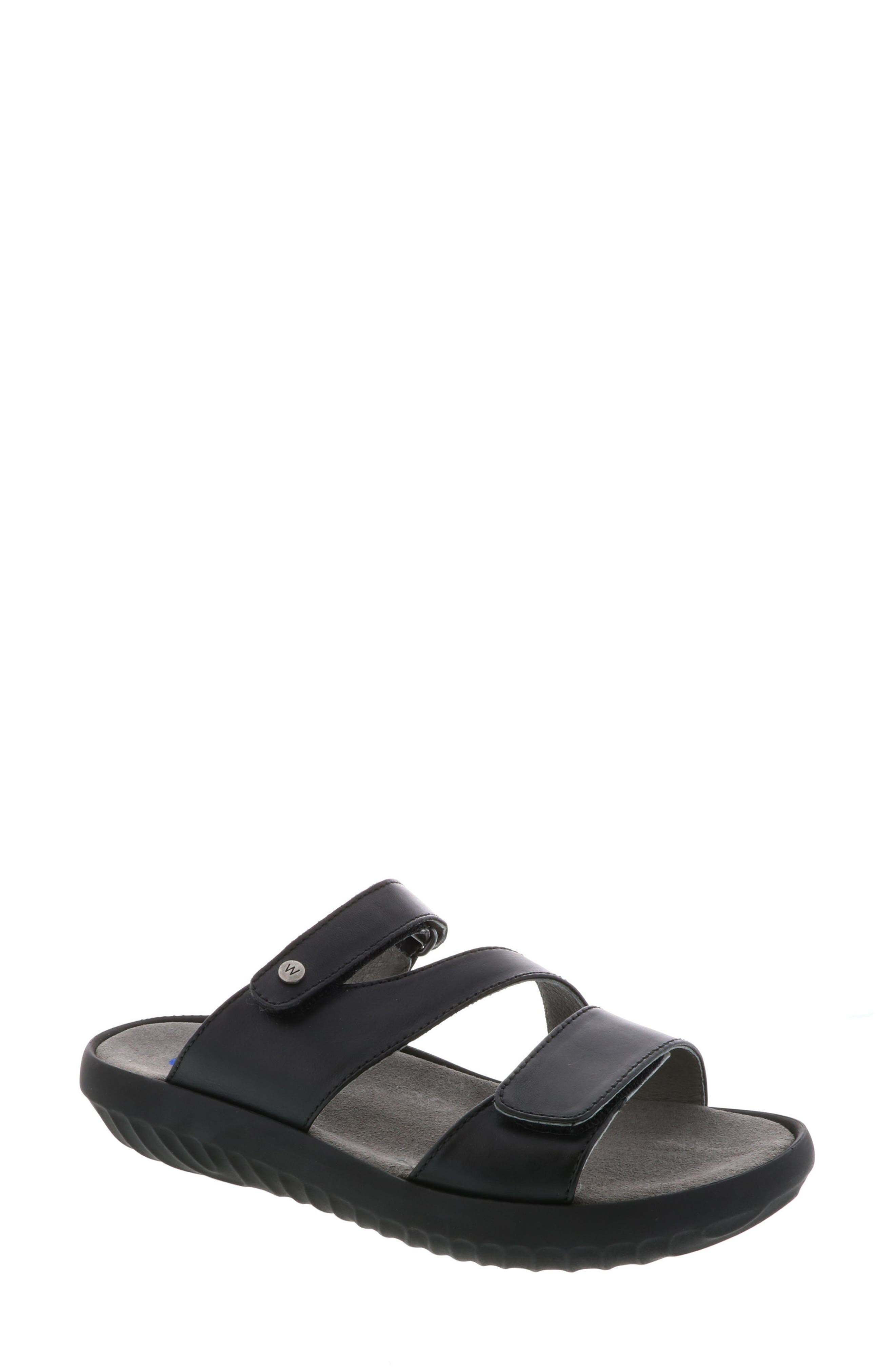 Sense Slide Sandal,                         Main,                         color, BLACK