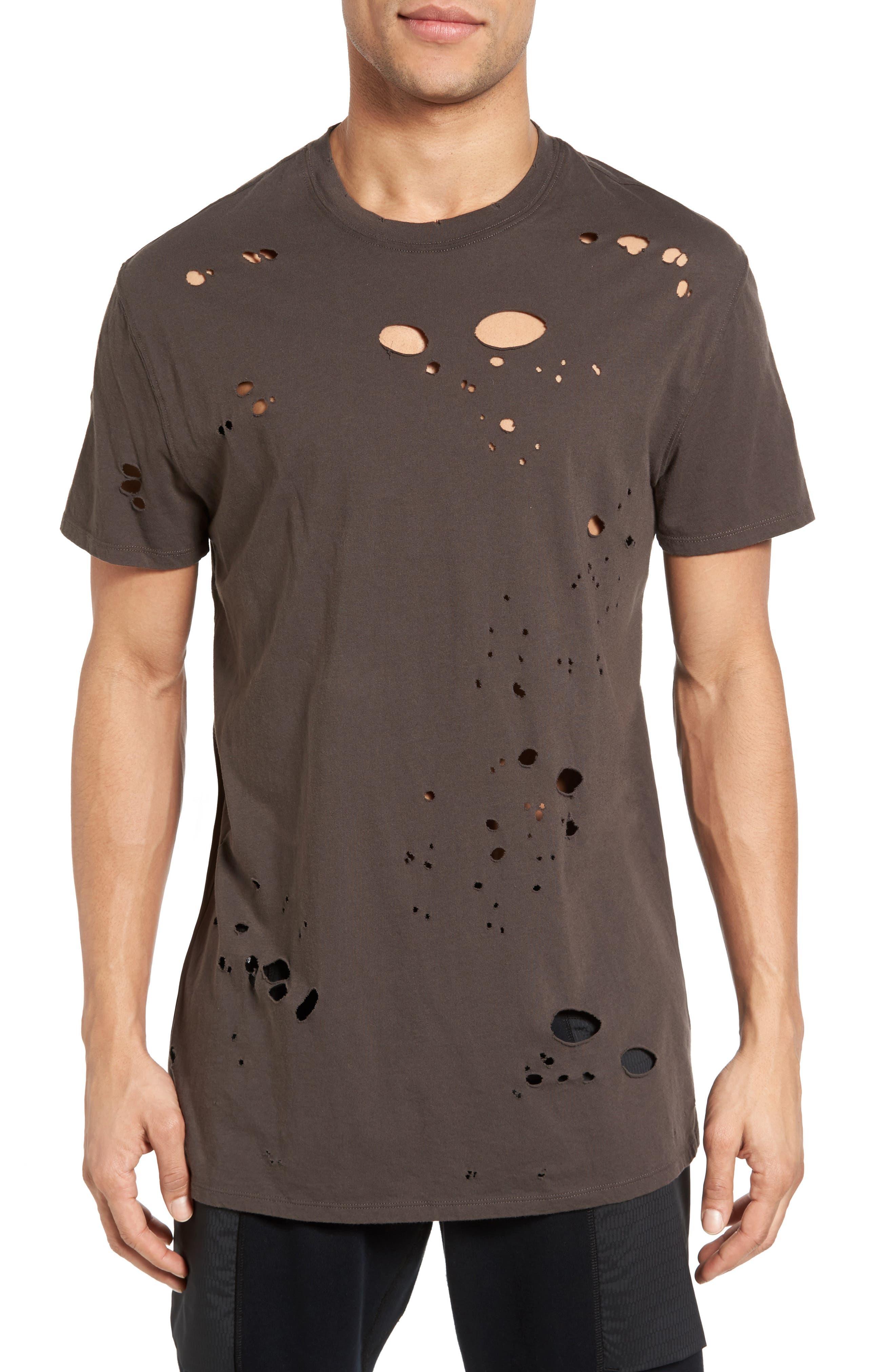 Torn Crewneck T-Shirt,                             Main thumbnail 3, color,