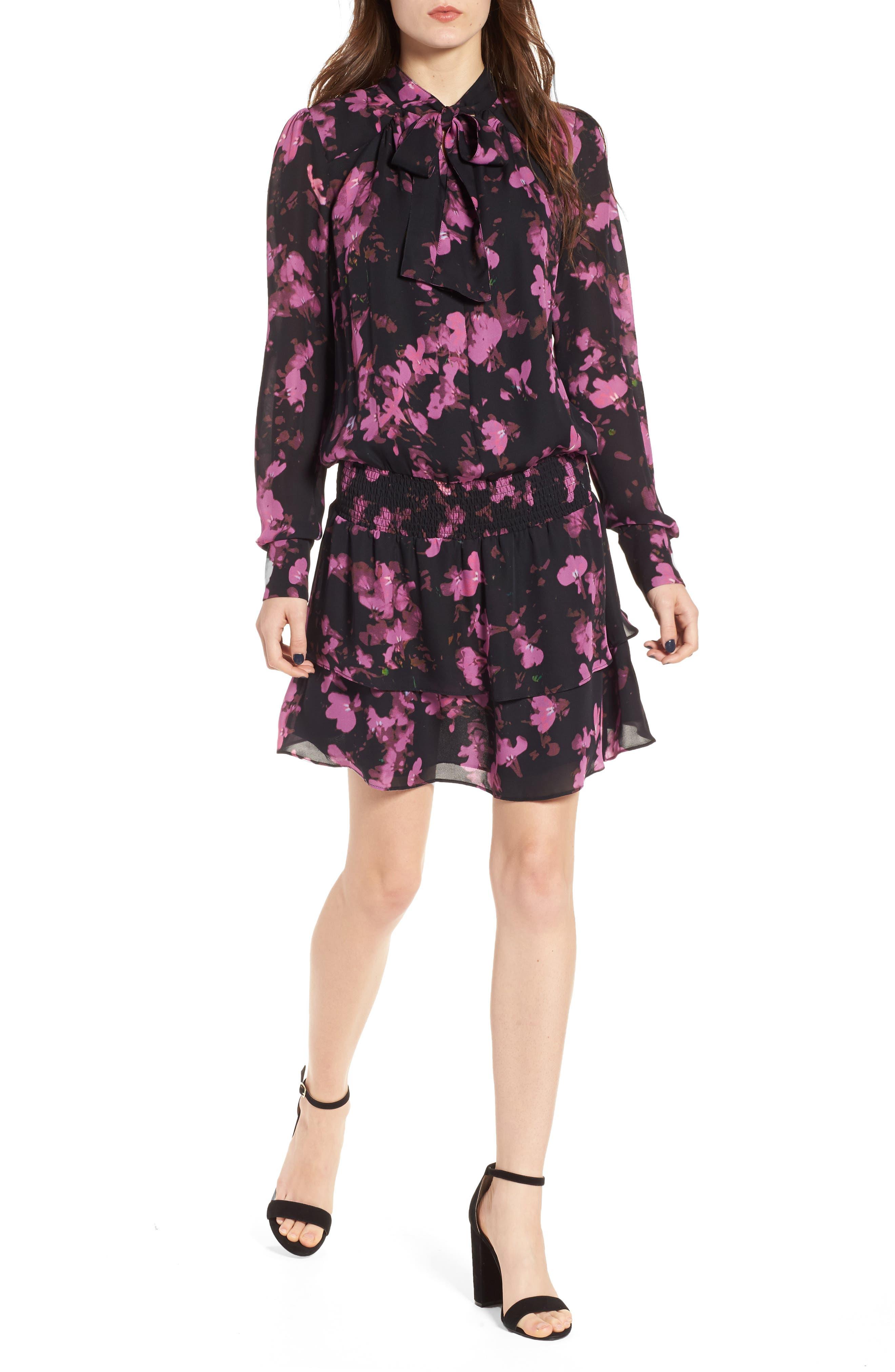 Marybeth Silk Shirtdress,                         Main,                         color,