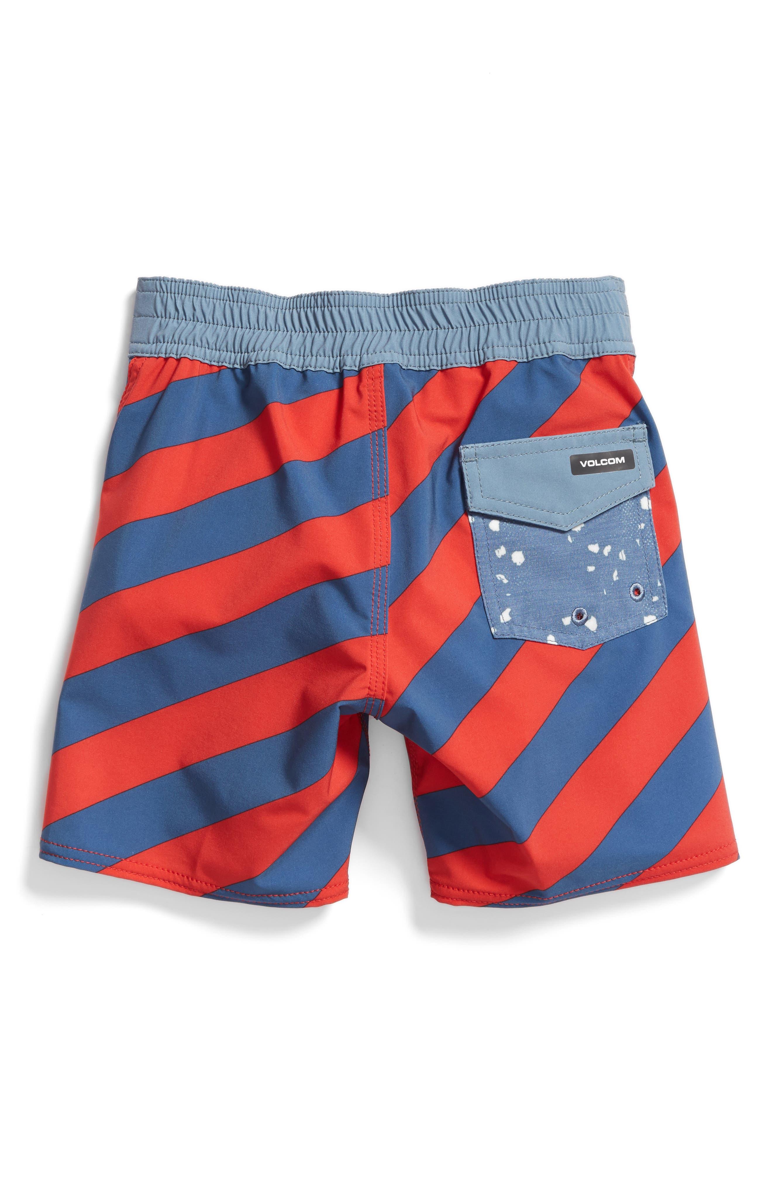 Stripey Jammer Board Shorts,                             Alternate thumbnail 9, color,